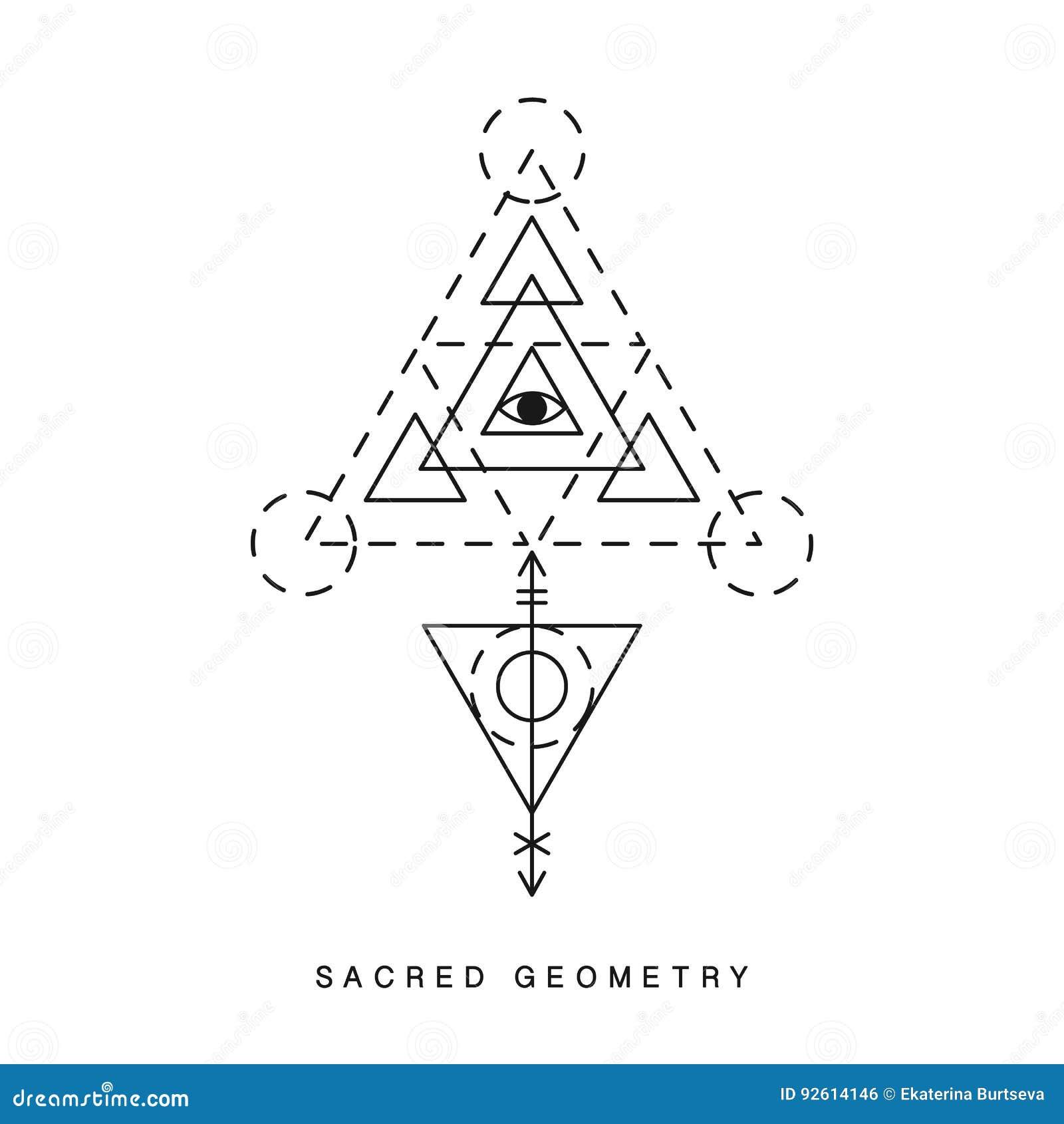 Muestra sagrada de la geometría, tatuaje