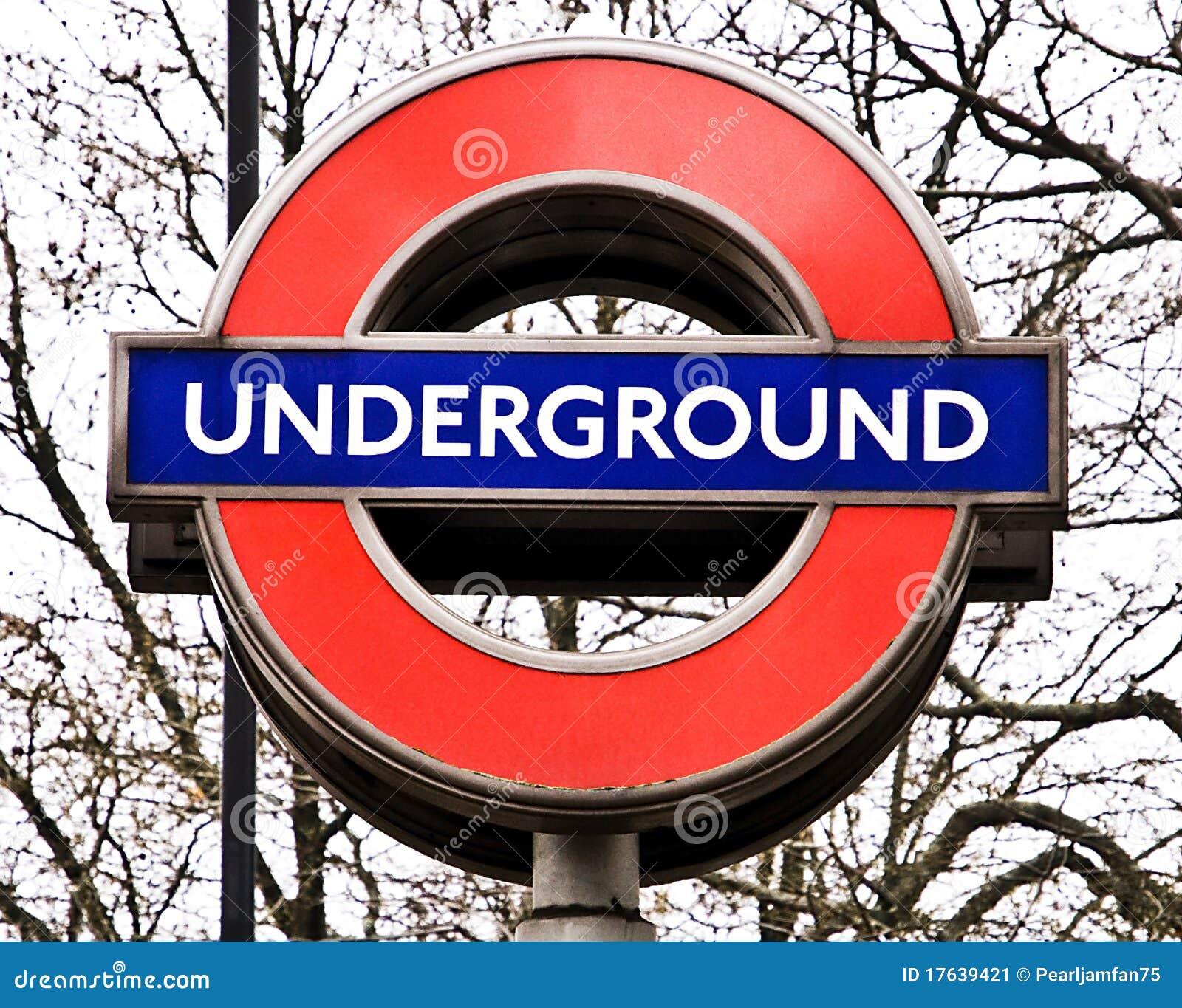 Muestra subterráneo de Londres