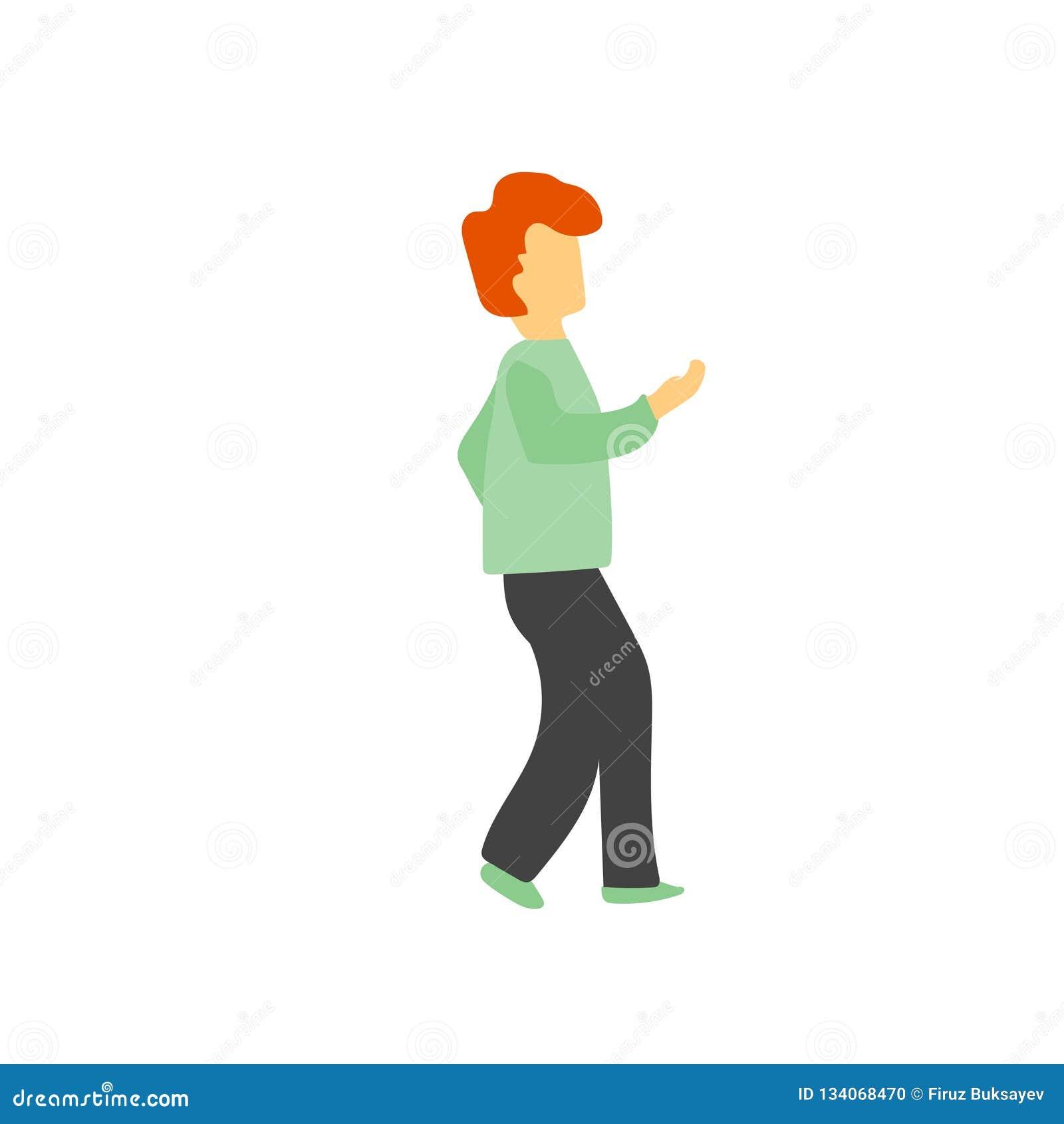 Muestra y símbolo de baile del vector del vector del hombre aislados en el fondo blanco, concepto de baile del logotipo del vecto