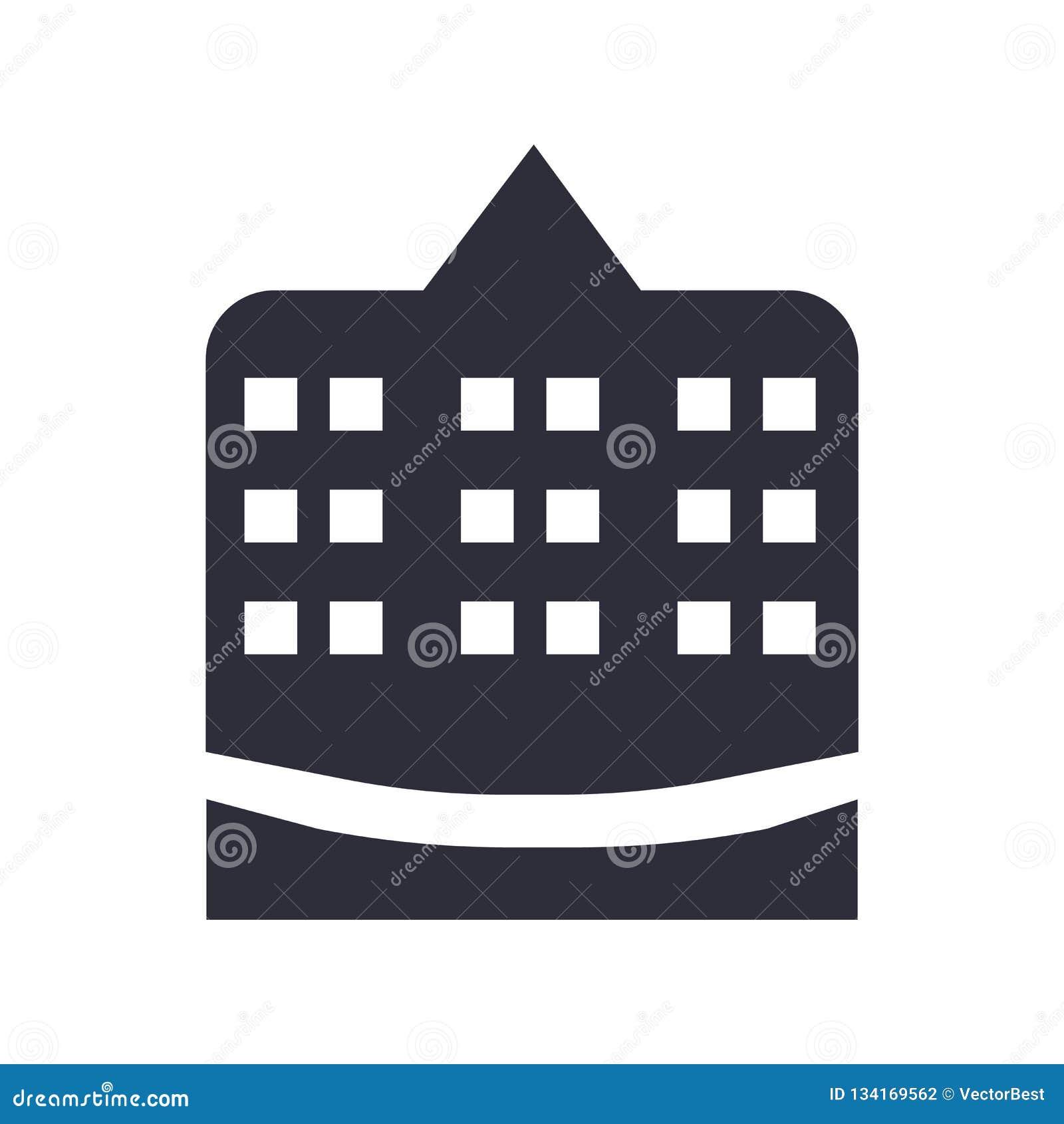 Muestra y símbolo del vector del icono del ayuntamiento aislados en el fondo blanco, concepto del logotipo del ayuntamiento