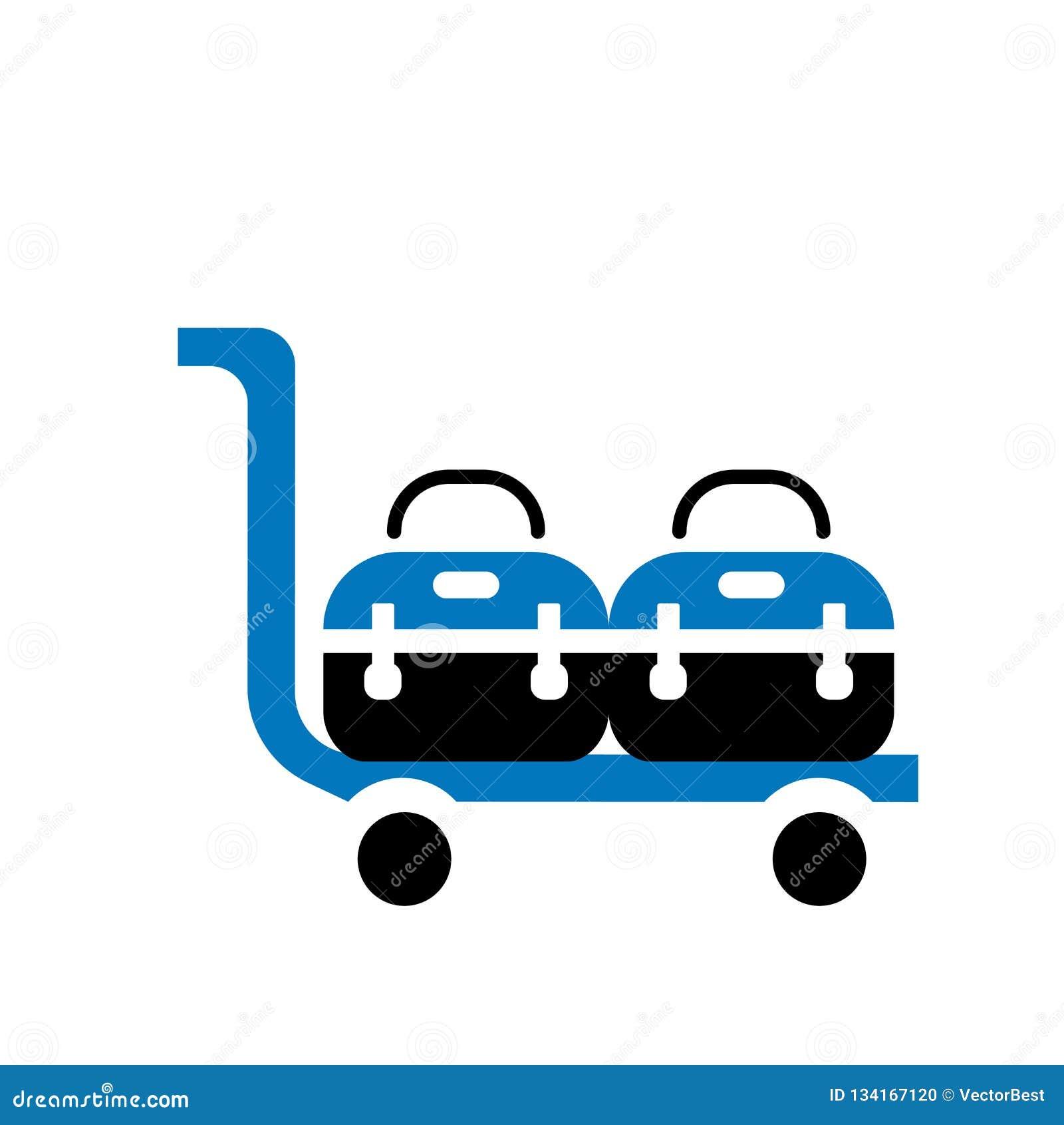 Muestra y símbolo del vector del icono del carro de la entrega aislados en el fondo blanco, concepto del logotipo del carro de la