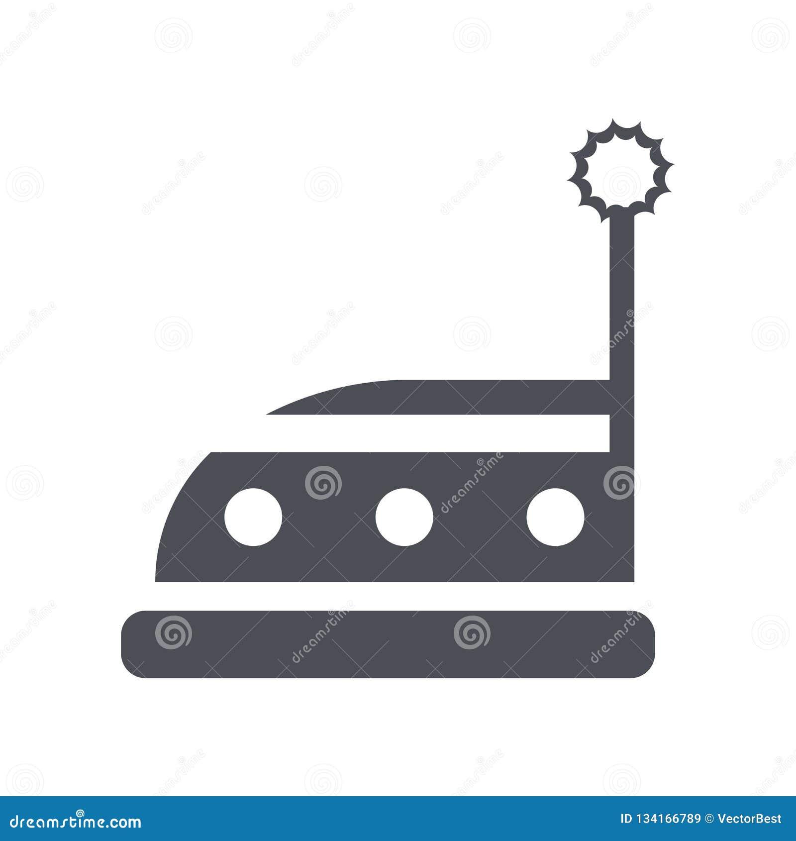 Muestra y símbolo del vector del icono del coche de parachoques aislados en el fondo blanco, concepto del logotipo del coche de p