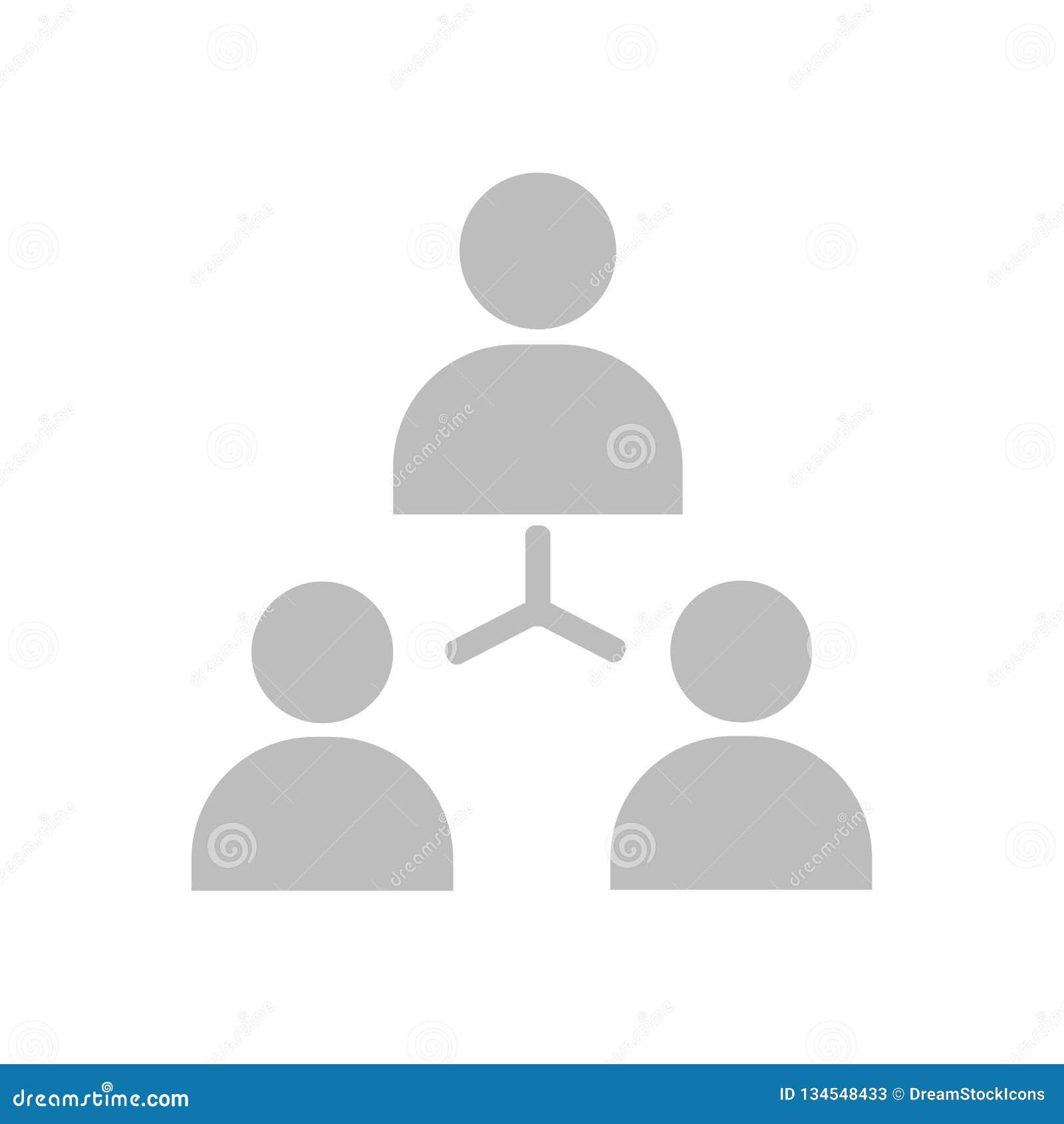 Muestra y símbolo del vector del icono de la estructura jerárquica aislados en el fondo blanco, concepto del logotipo de la estru