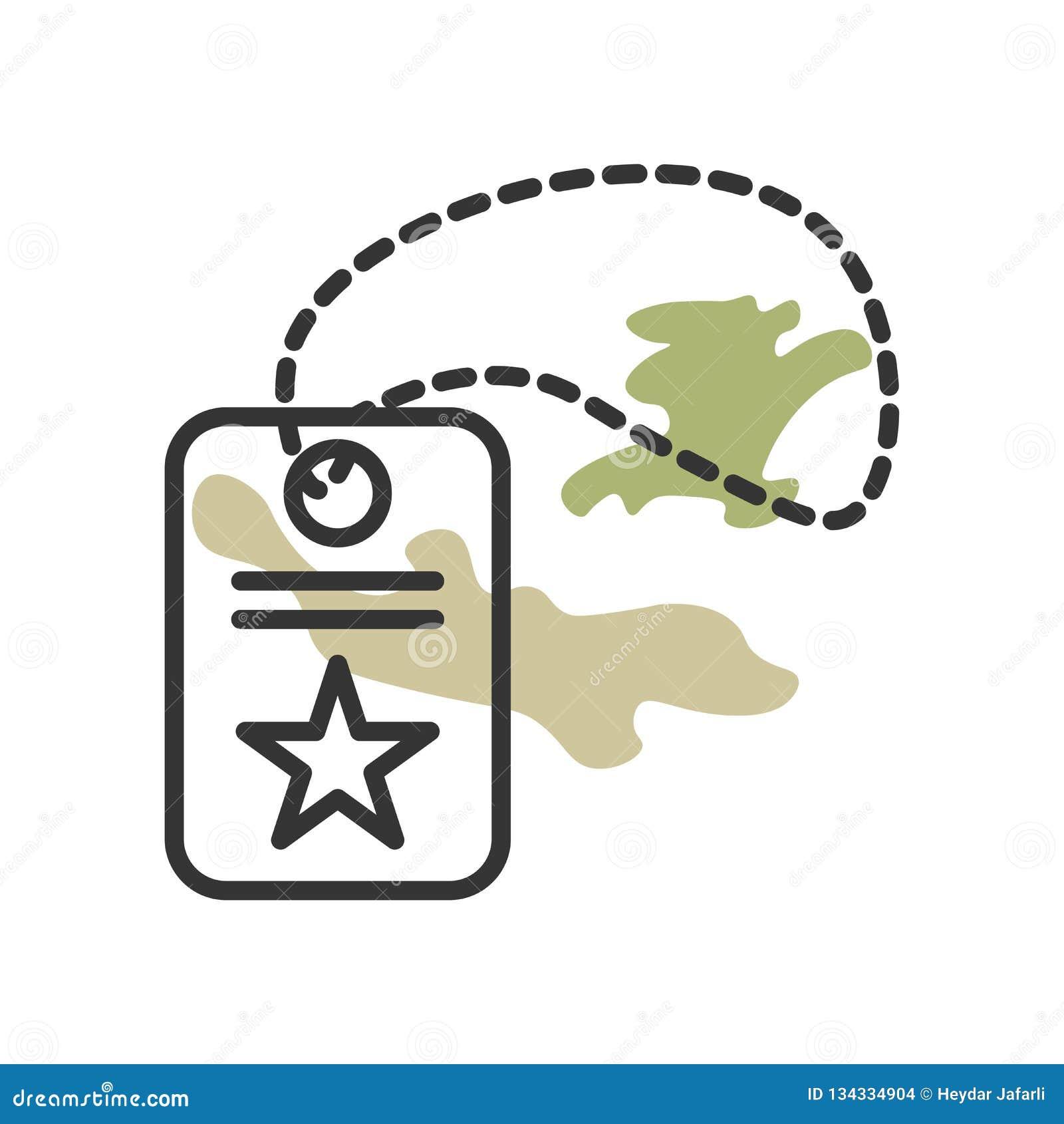 Muestra y símbolo del vector del icono de la placa de identificación aislados en el fondo blanco, concepto del logotipo de la pla