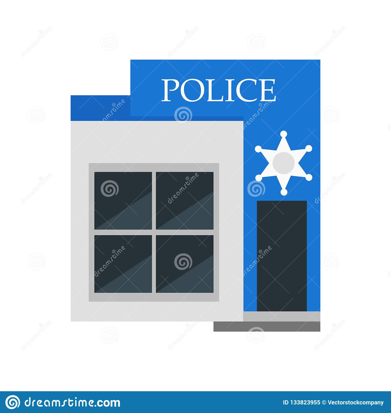 Muestra y símbolo del vector del icono de la policía aislados en el fondo blanco, concepto del logotipo de la policía