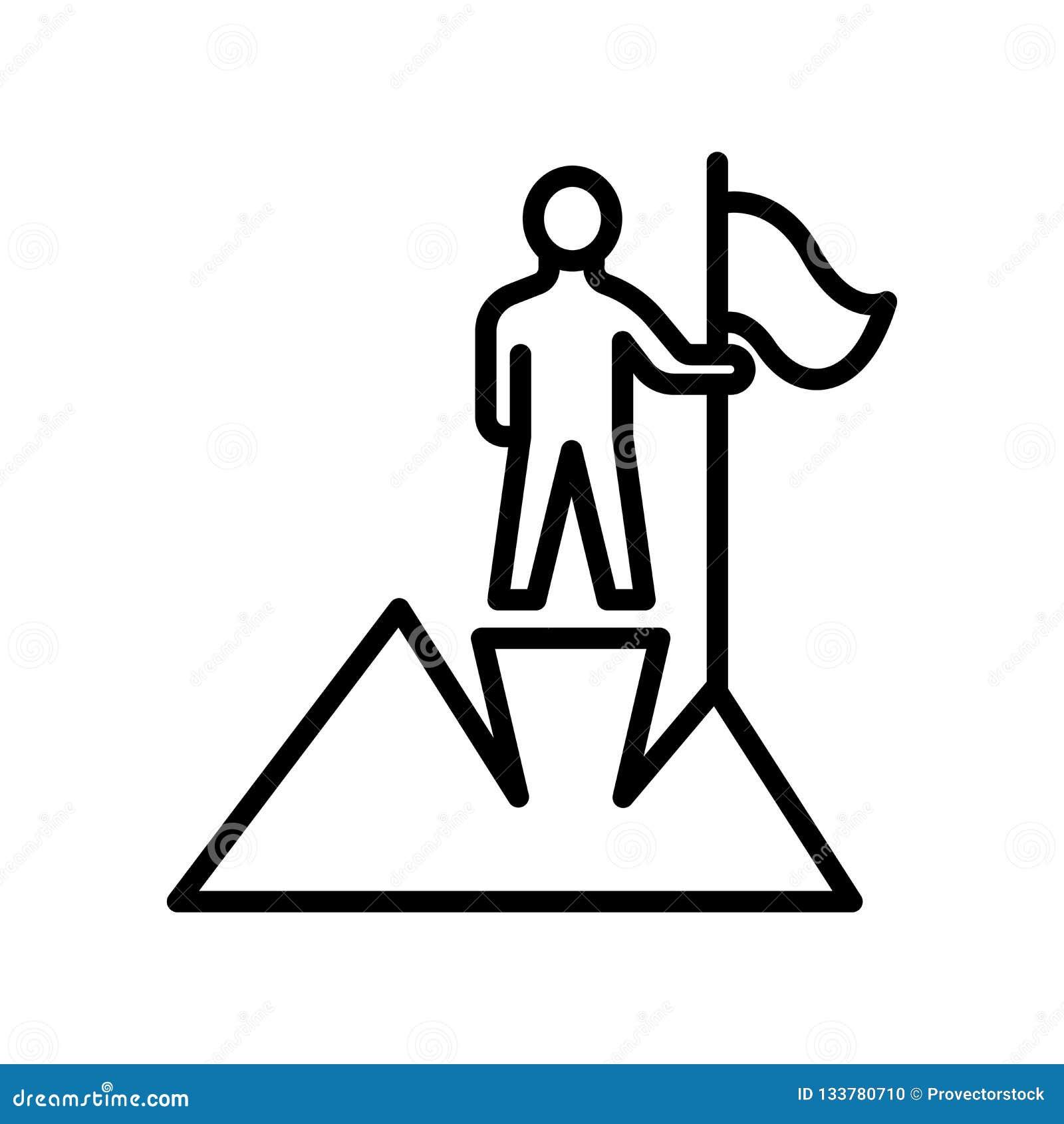 Muestra y símbolo del vector del icono del logro aislados en el backgr blanco