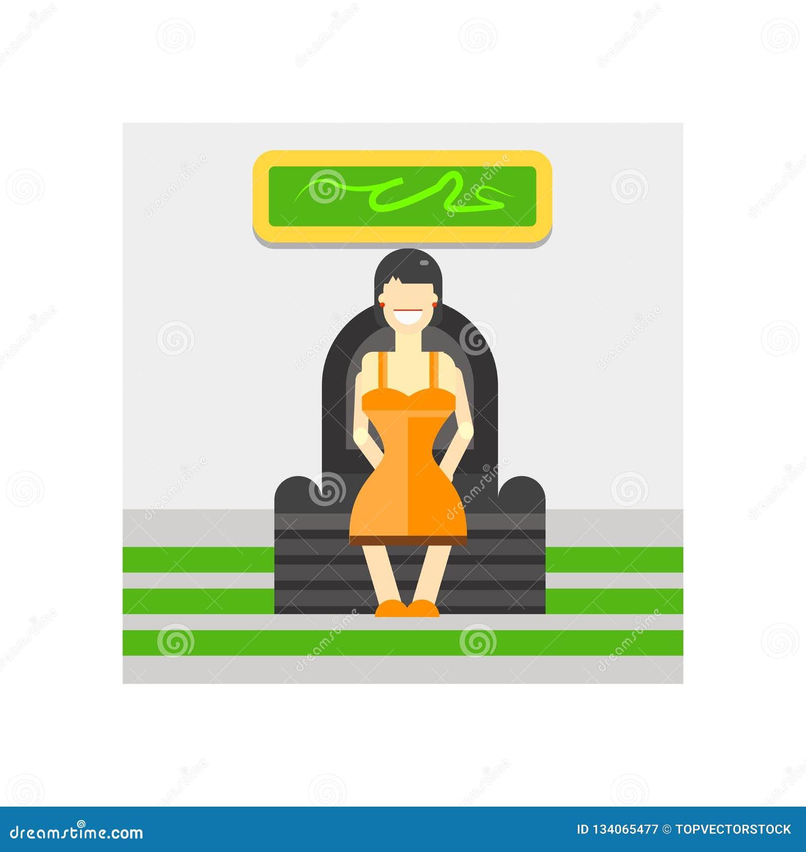 Muestra y símbolo del vector del icono que se sientan aislados en el fondo blanco, concepto del logotipo que se sienta