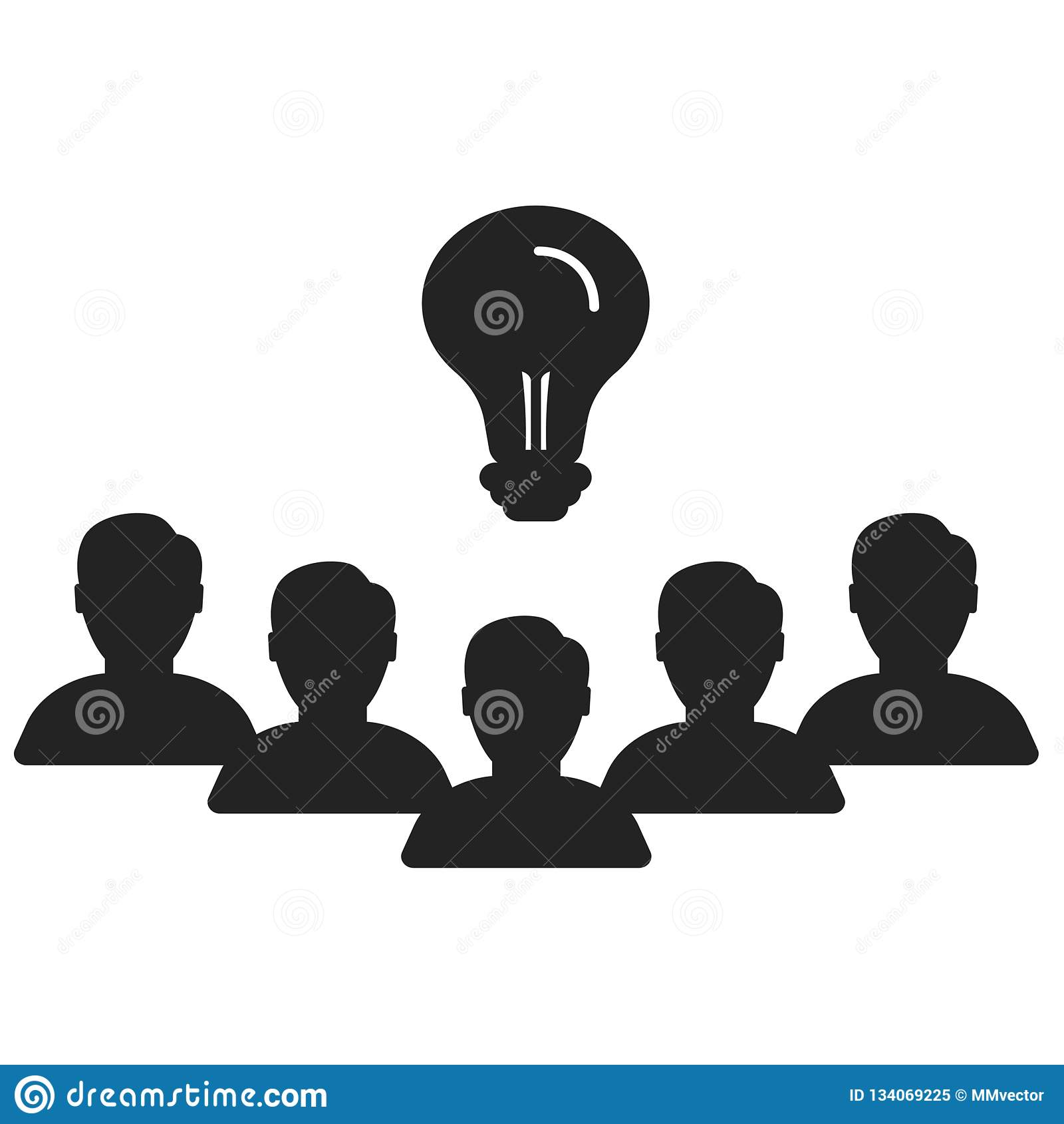 Muestra y símbolo del vector del icono del trabajo en equipo aislados en el fondo blanco, concepto del logotipo del trabajo en eq