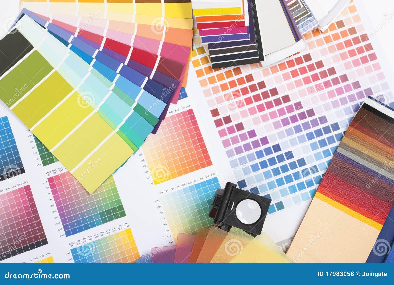Muestras coloreadas diseñador