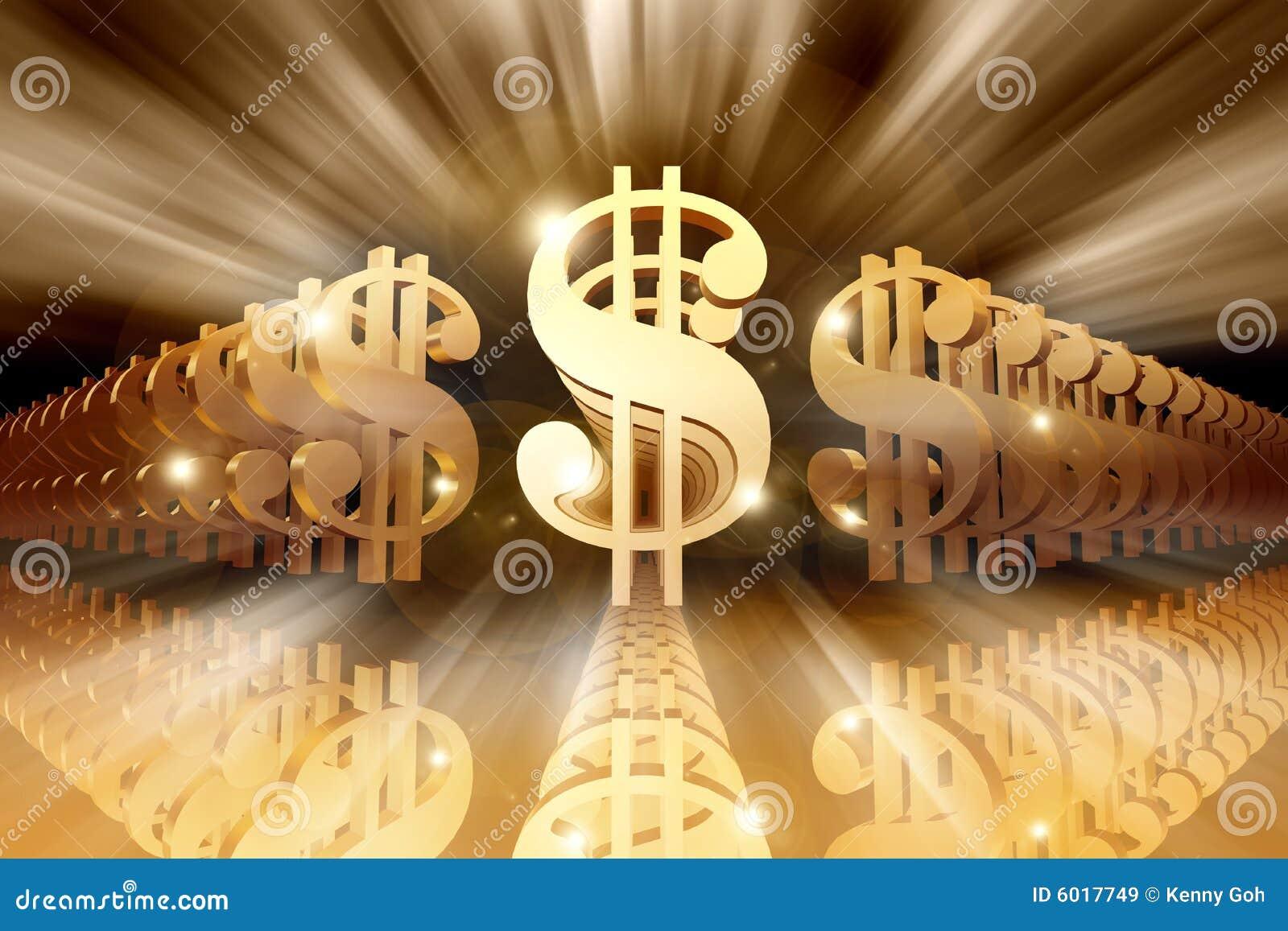 Muestras de dólar brillantes