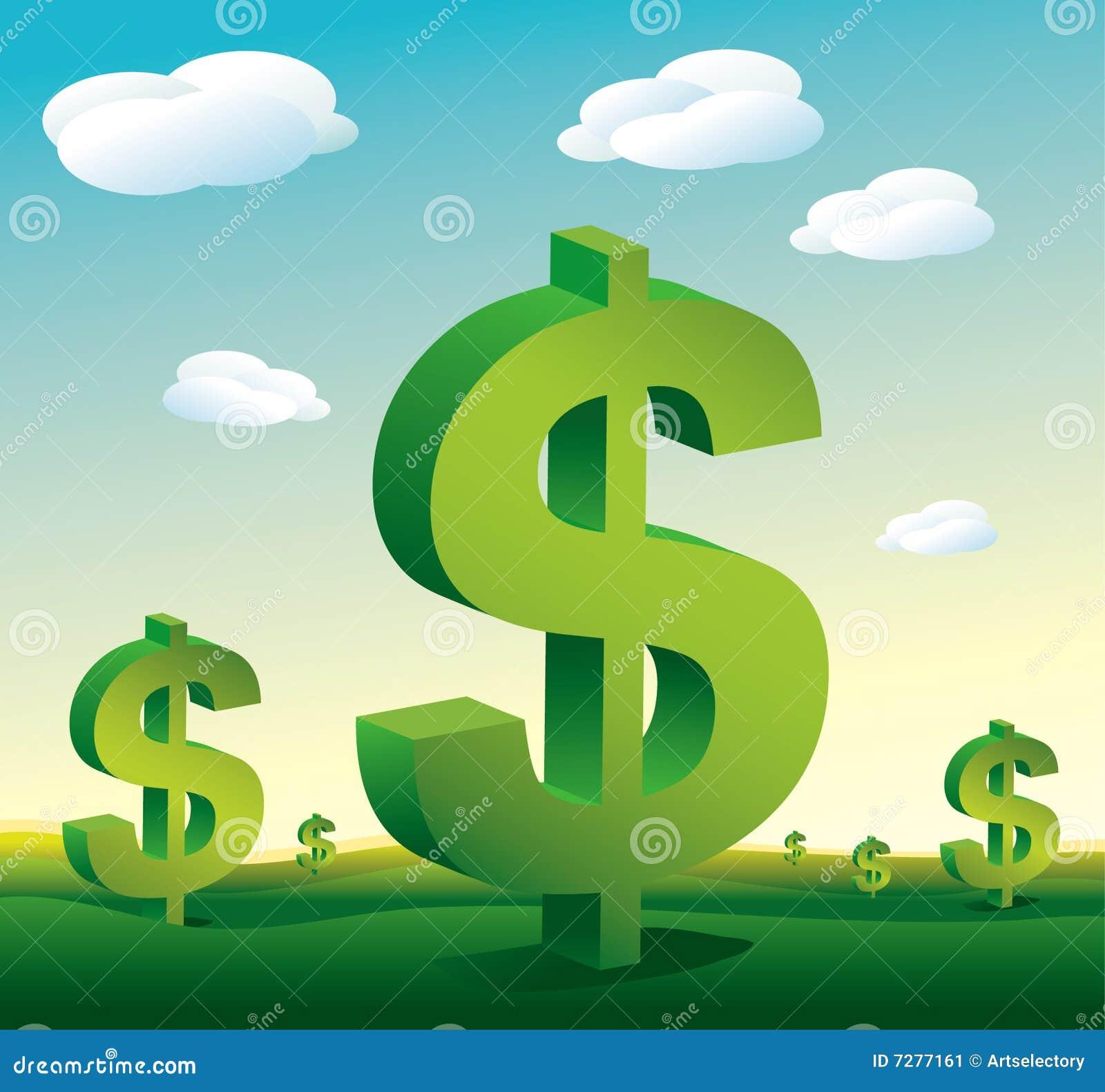 Muestras de dólar del paisaje