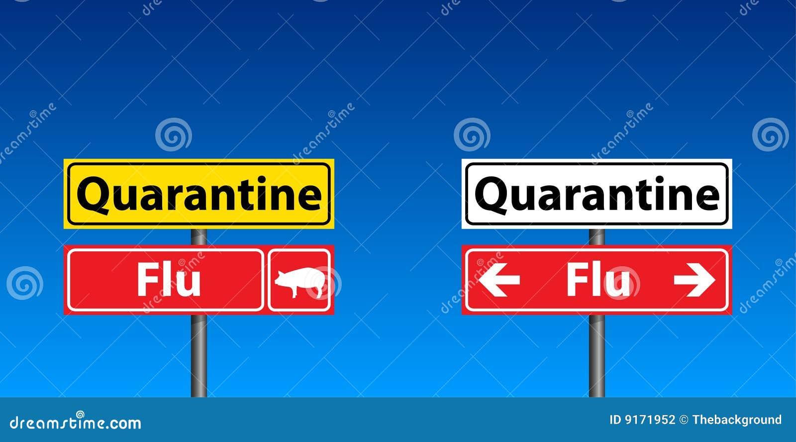 Muestras de la cuarentena de la gripe