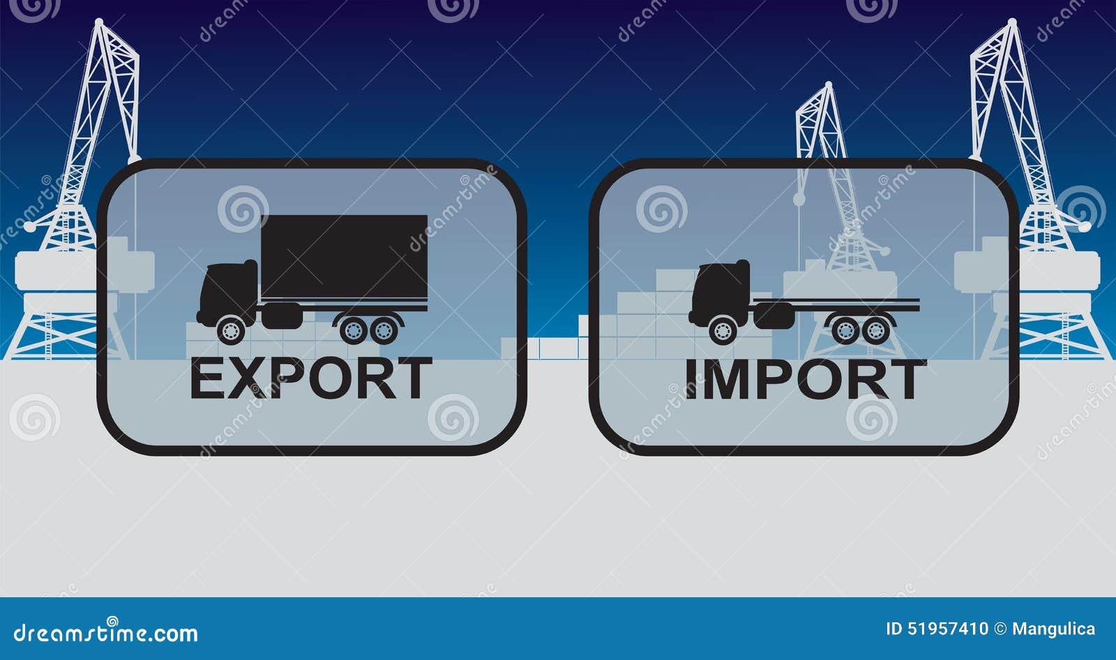 Muestras De La Importación De La Exportación, Símbolos Ilustración ...