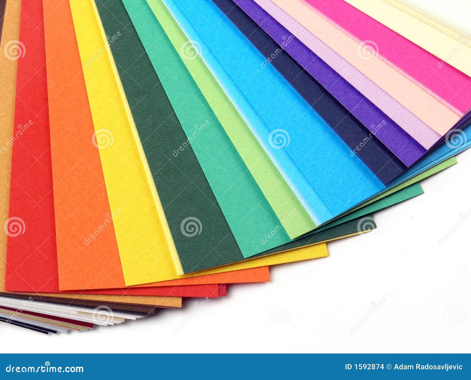 Muestras de papel para las tarjetas de visita foto de - Papeles de vinilo para pared ...
