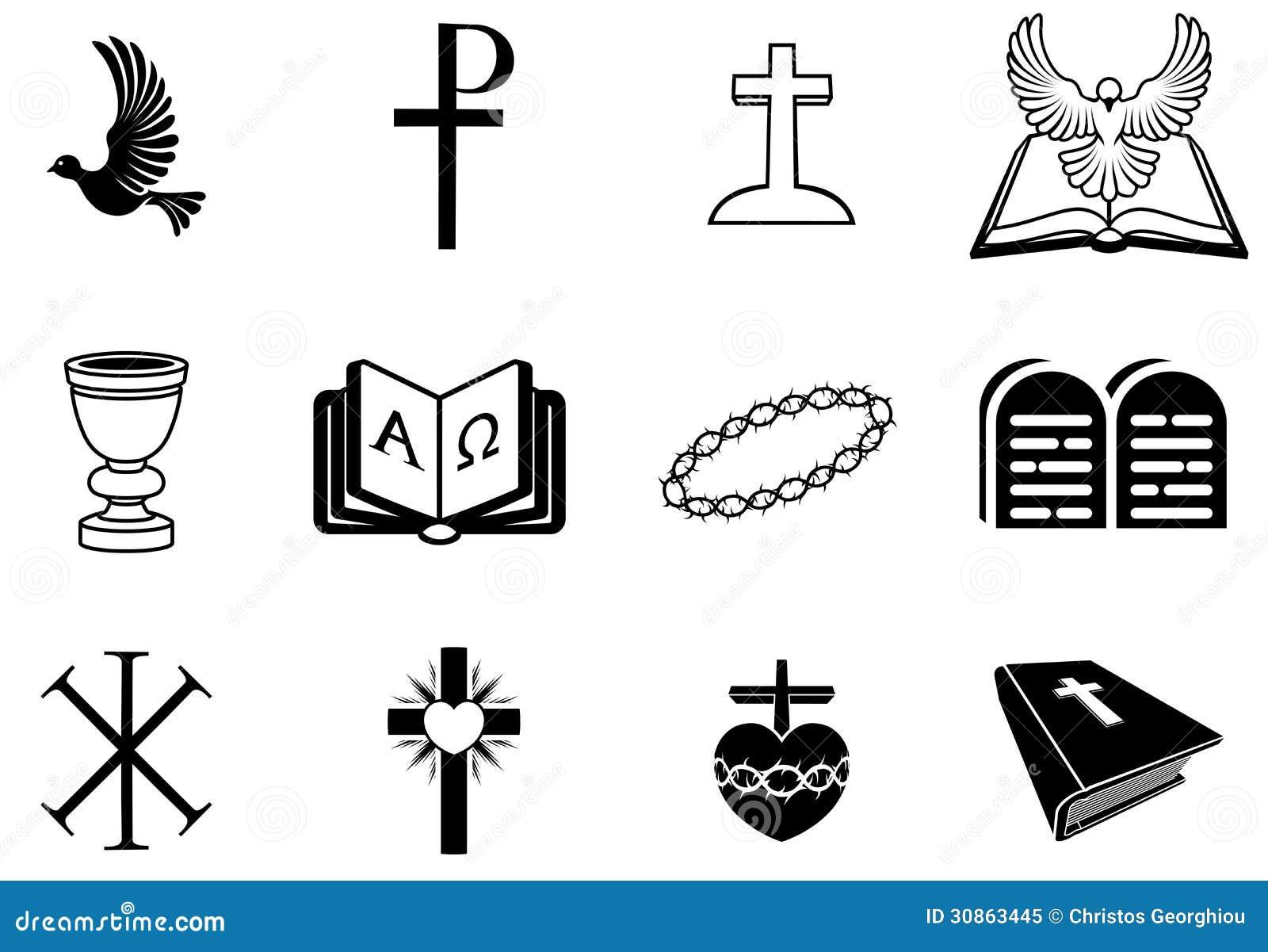 Muestras y s mbolos religiosos cristianos ilustraci n del - Mandamientos del budismo ...