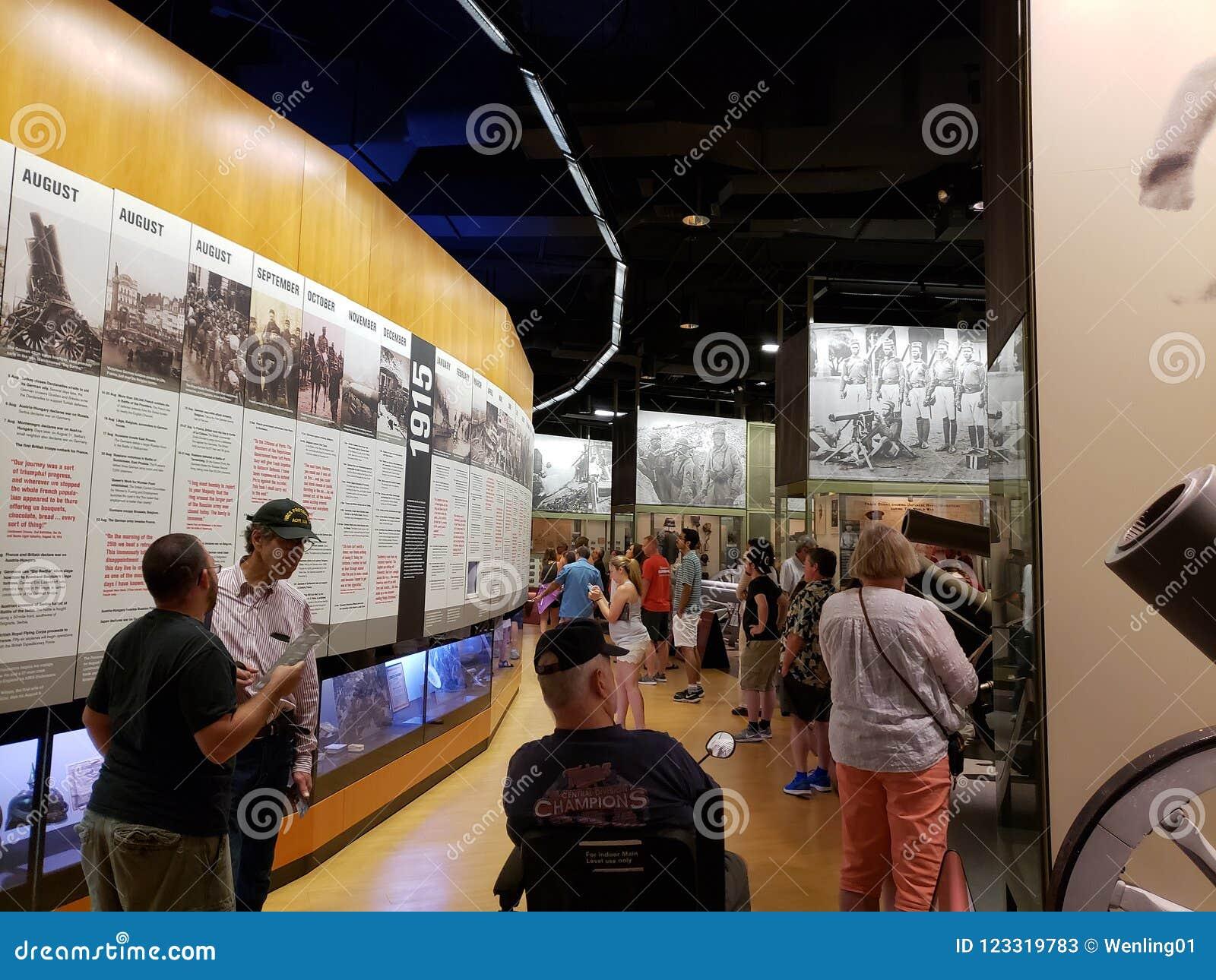 Muestre en la ciudad Kansas Missouri del museo de la Primera Guerra Mundial