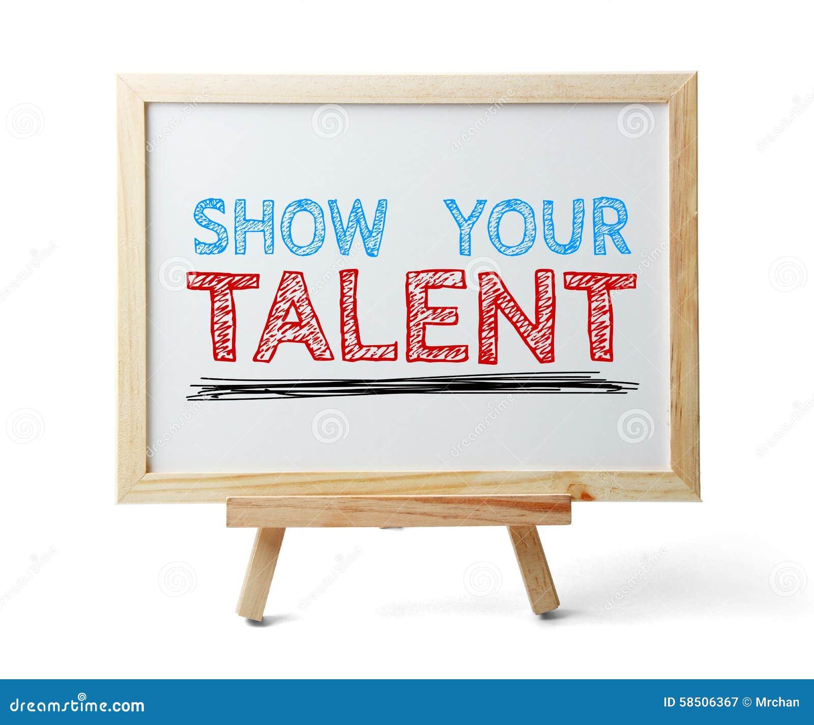 Muestre su talento