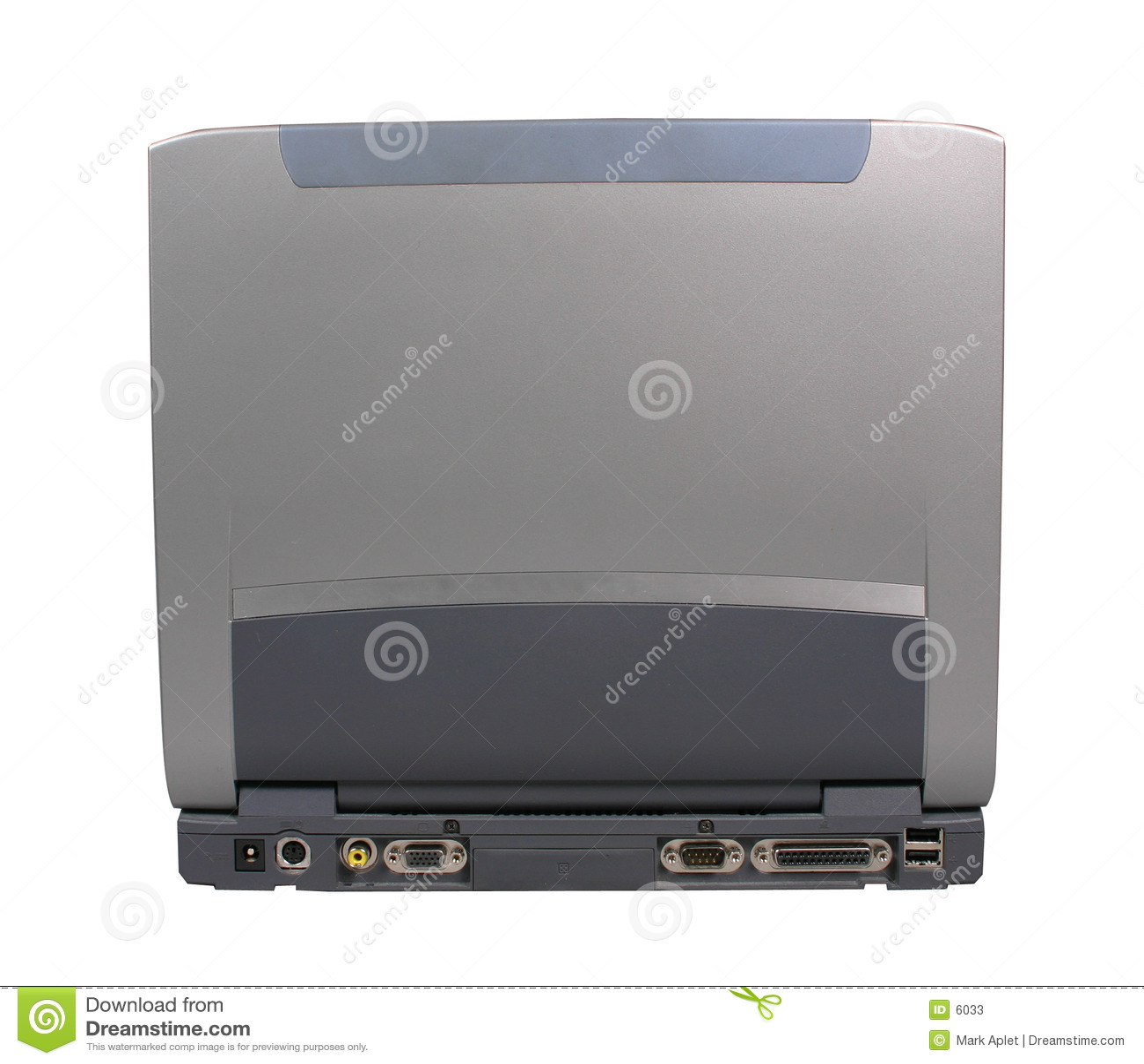 Mueva hacia atrás de la computadora portátil