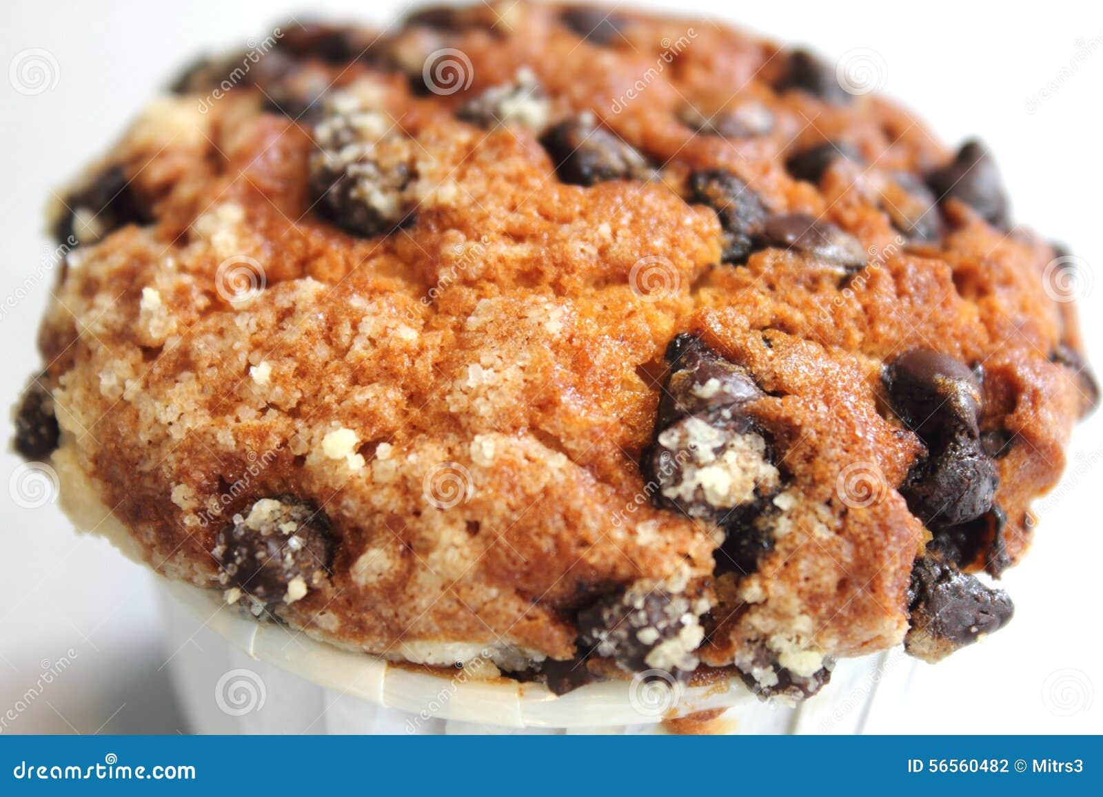 Download Muffin τσιπ σοκολάτας ανθυγειινή κινηματογράφηση σε πρώτο πλάνο τροφίμων Στοκ Εικόνες - εικόνα από ζάχαρη, ανασκόπησης: 56560482