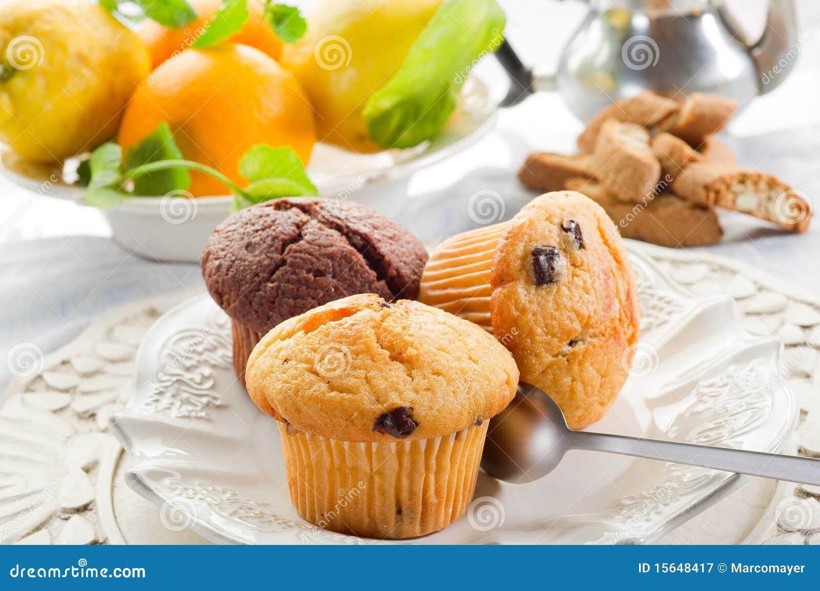 Muffin auf Teller