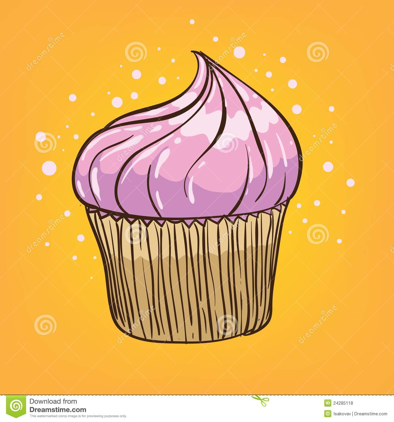 Muffin Cartoon Stock Vector Image Of Funny Lowbrow