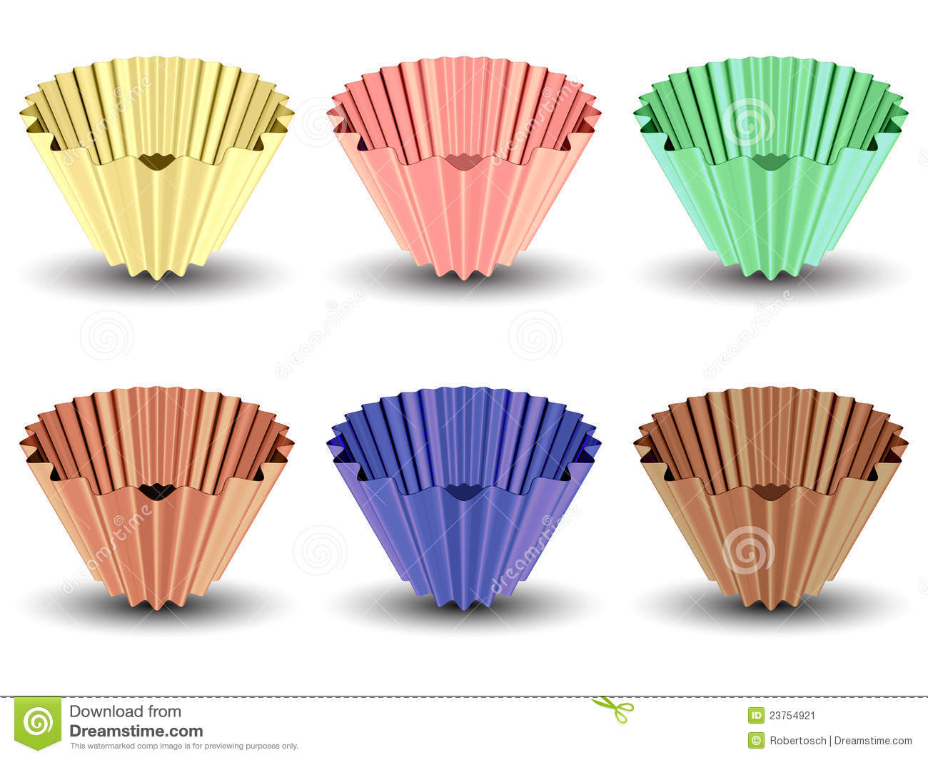 muffin papers These sturdy pressed and fluted paper baking cups are made of shiny glassine paper and are available in three sizes: mini, standard, and large.