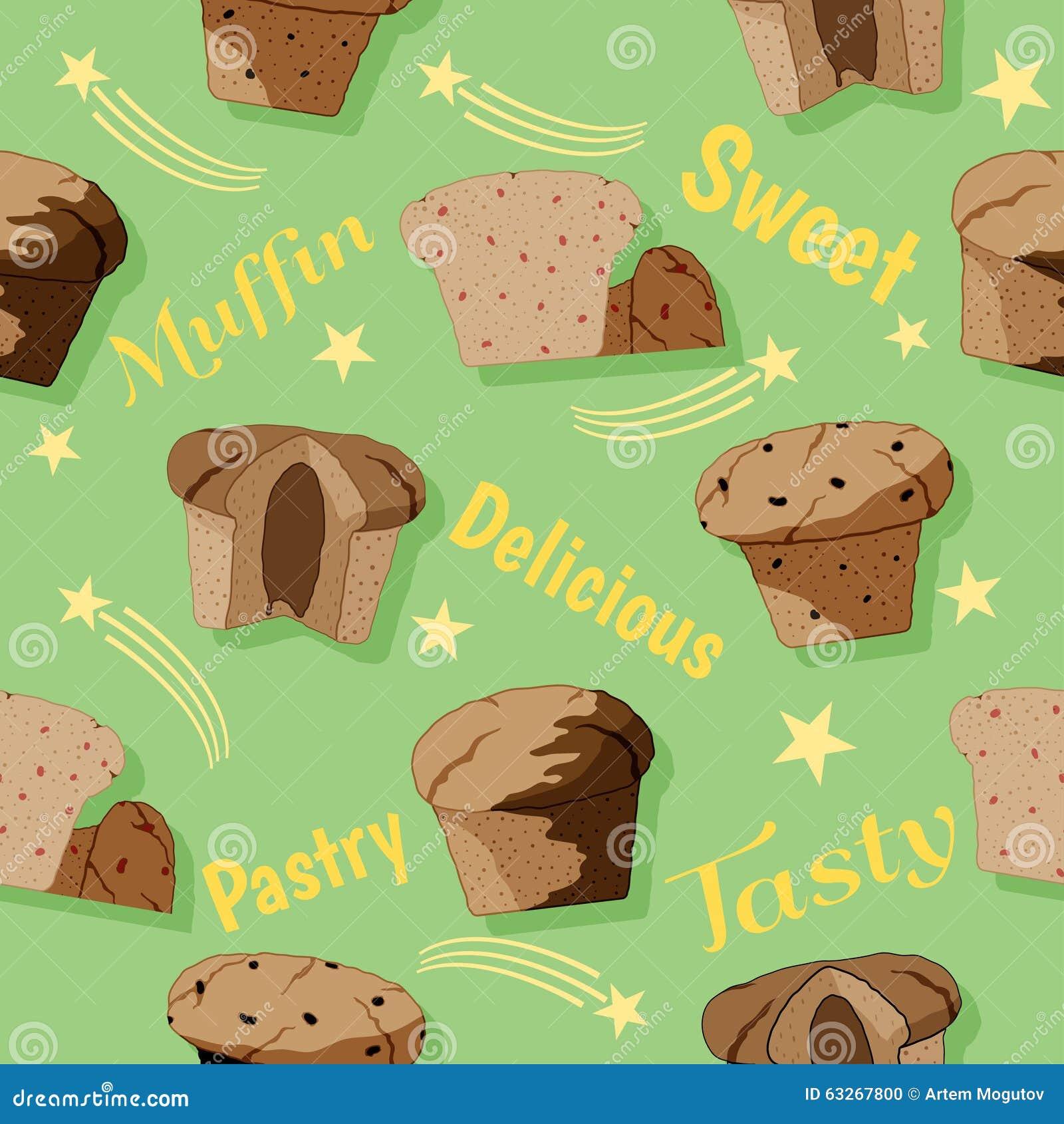 Muffin naadloos patroon