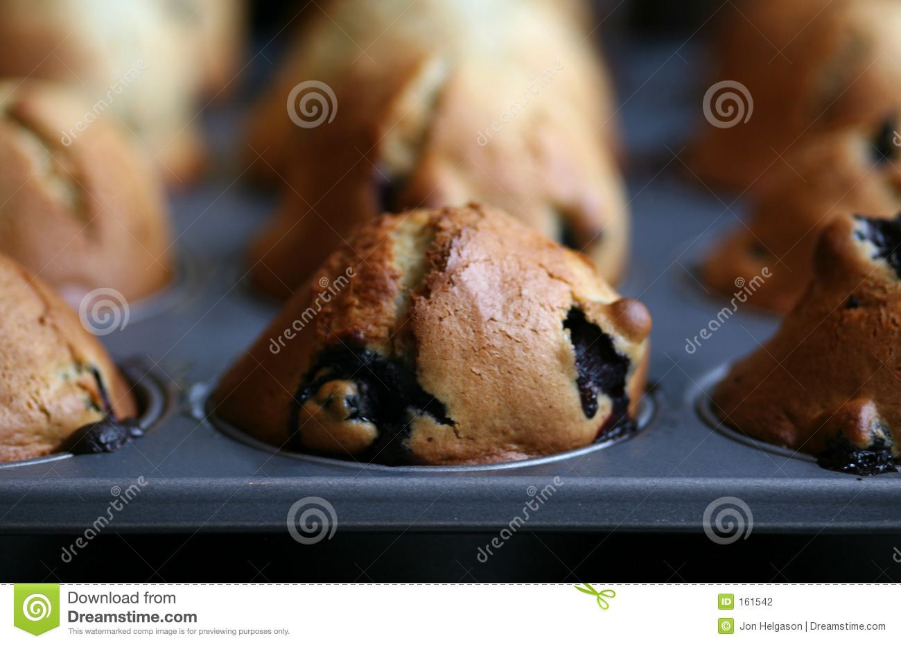 Muffins fresh from the oven