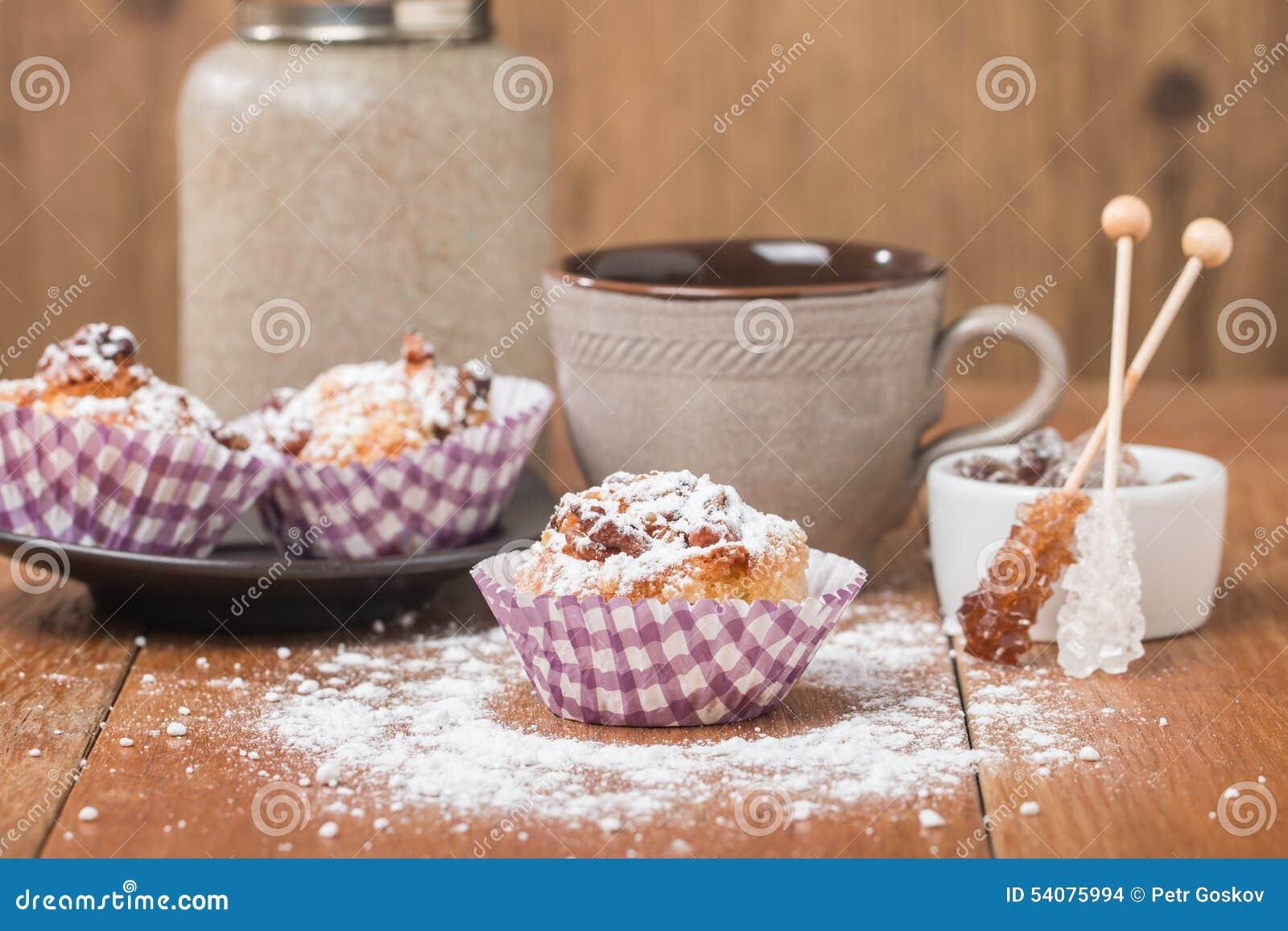 Muffins met havermeel en okkernoten