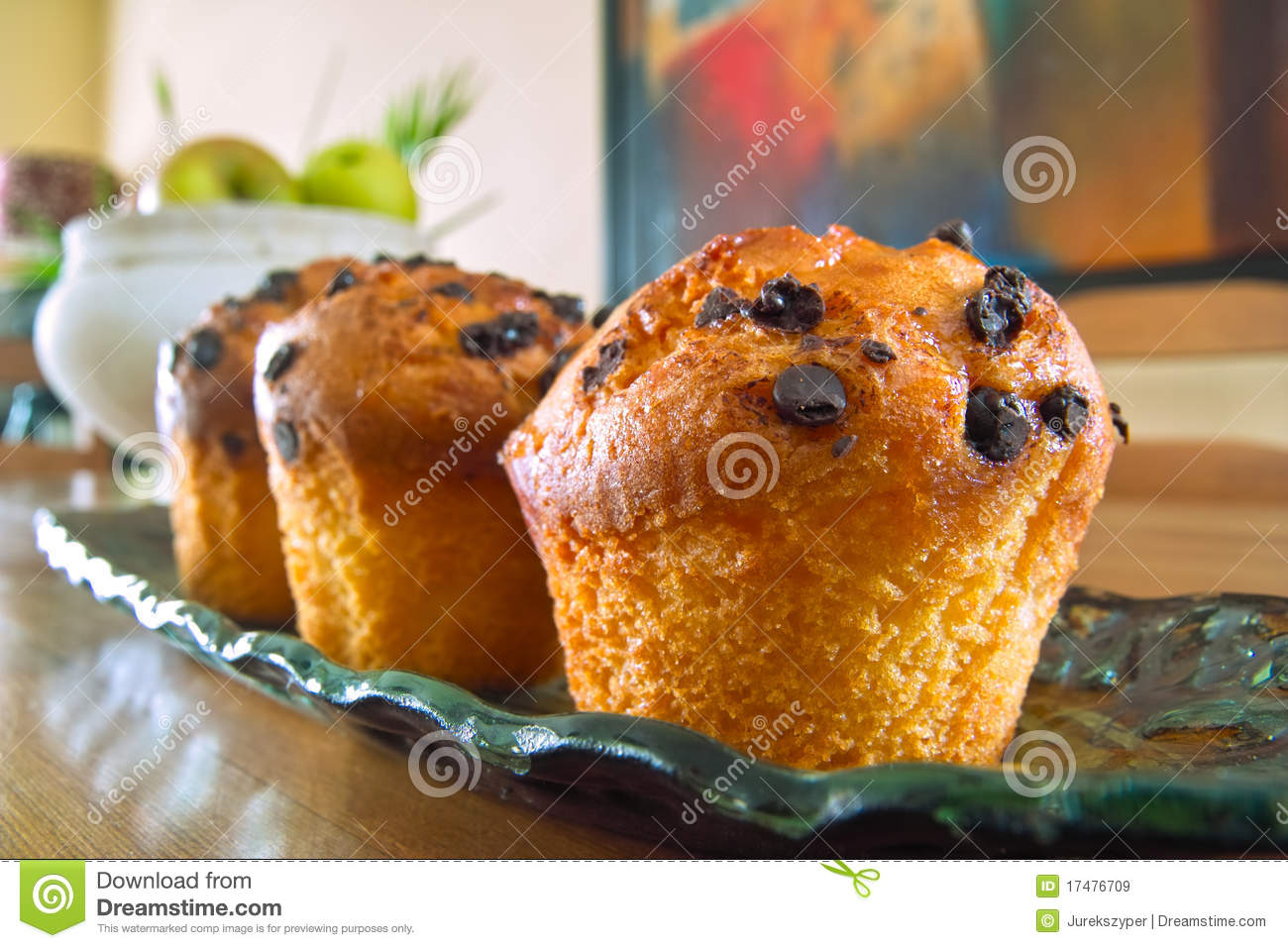 Muffins served on the table