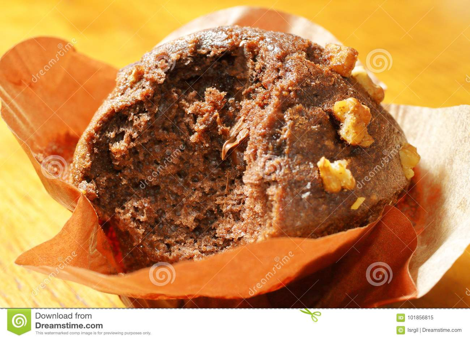 Muffins van de scène de heerlijke chocolade