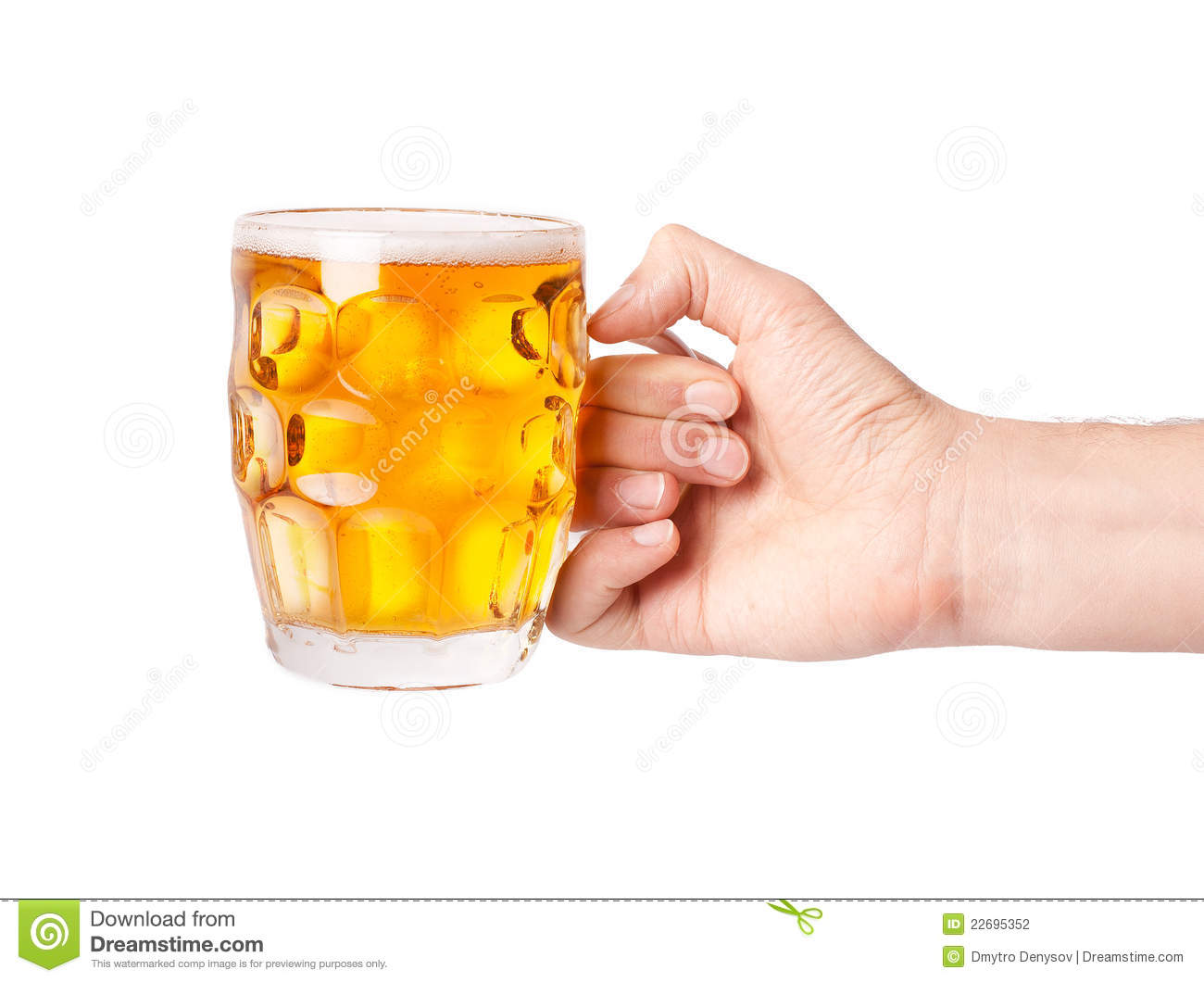 Mug Of Beer In Hand Stock Photography - Image: 22695352