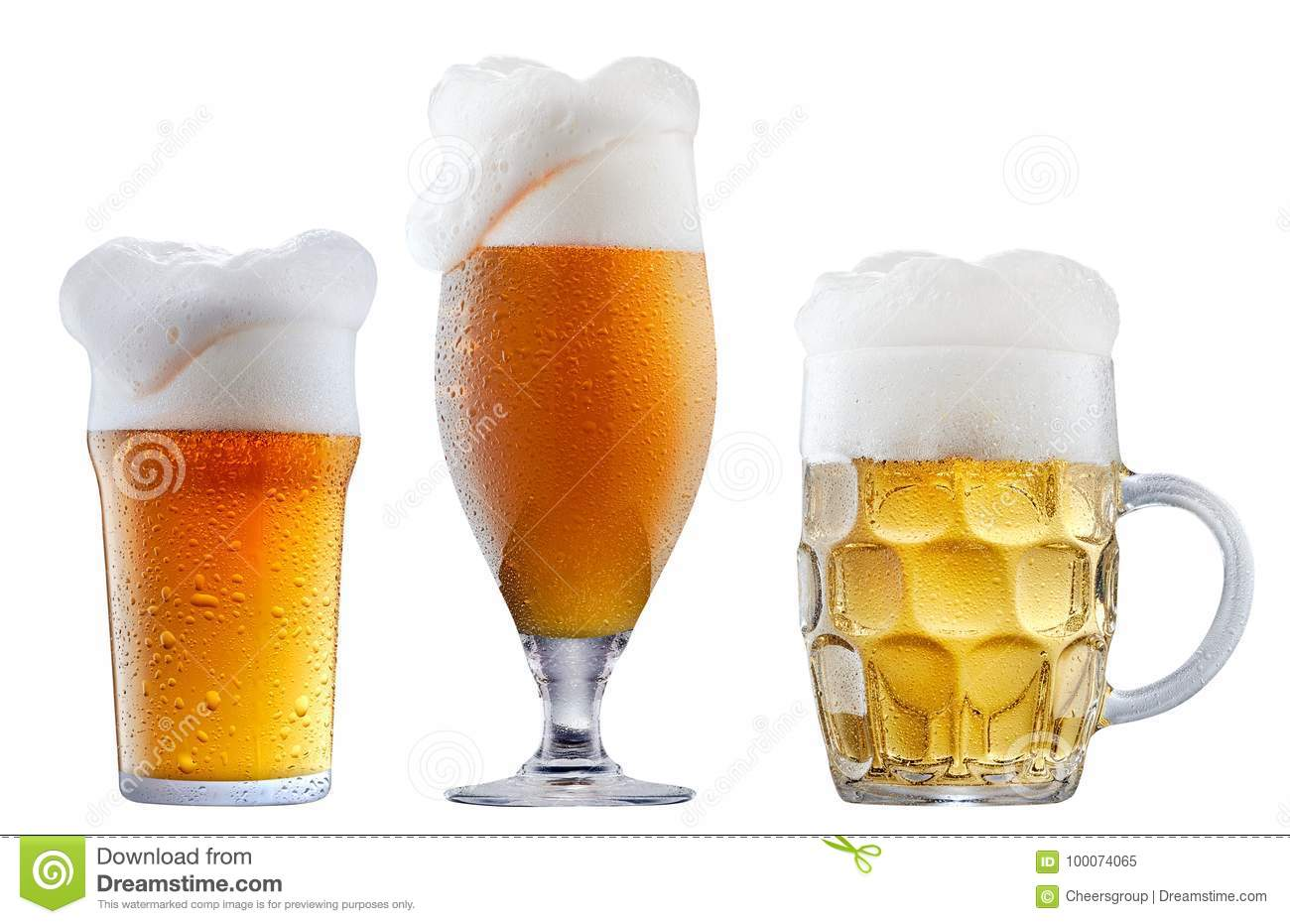 Mug of frosty beer with foam