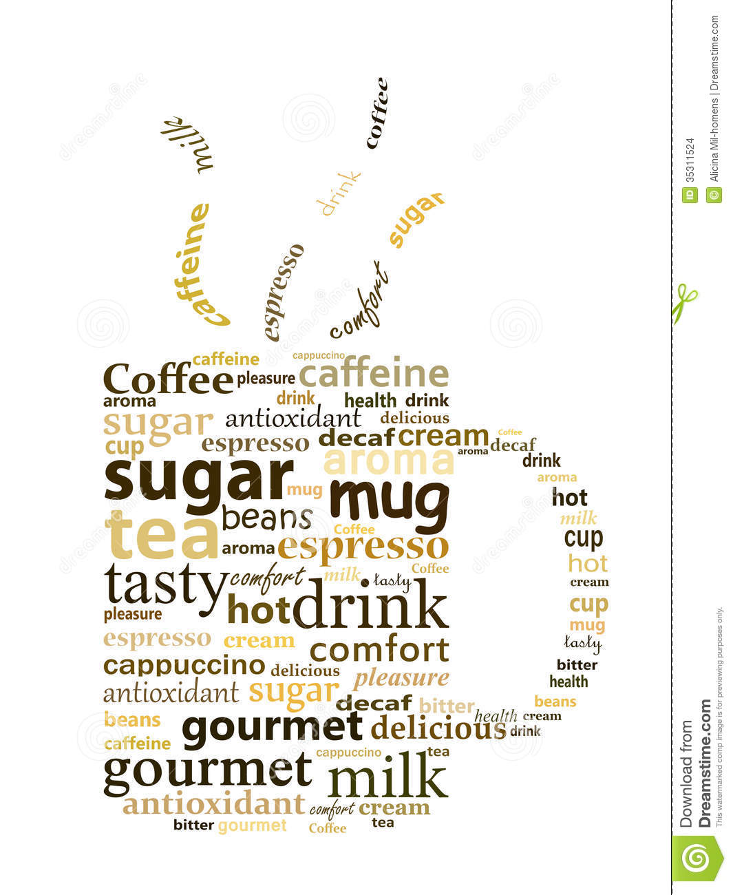Mug Made With Words Stock Images