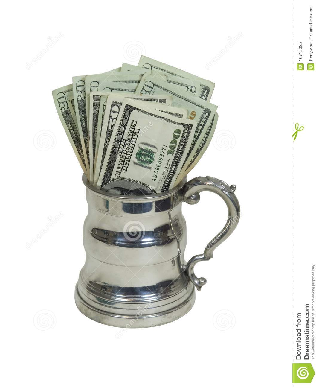 Download Mug of money stock image. Image of luxury, drink, party - 10715395
