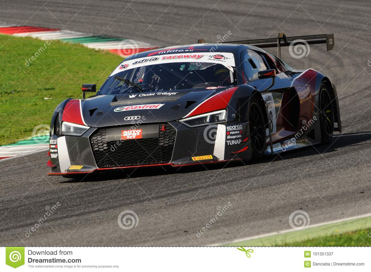 mugello circuit italy 6 october 2017 audi r8 lms audi sport italia team driven by ghirelli. Black Bedroom Furniture Sets. Home Design Ideas