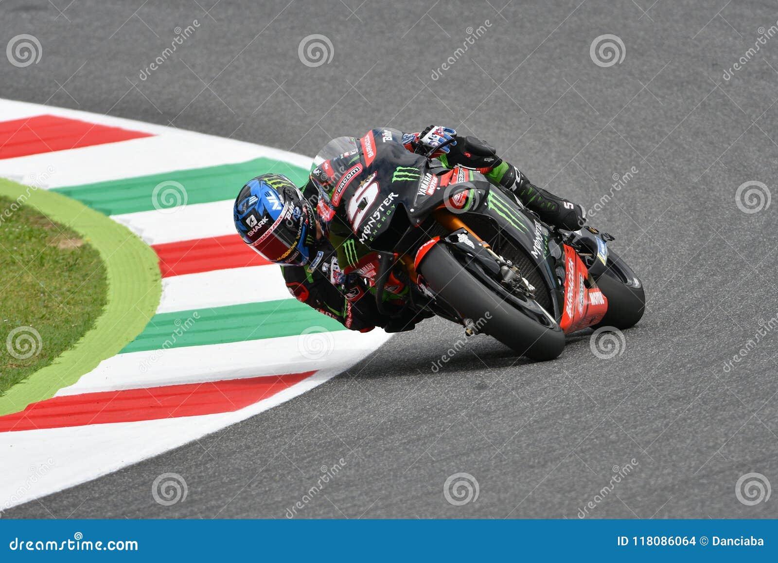 MUGELLO - ITALIE, LE 2 JUIN : Technologie de Yamaha de Français 3 Team Rider Johann Zarco pendant la session de qualification au