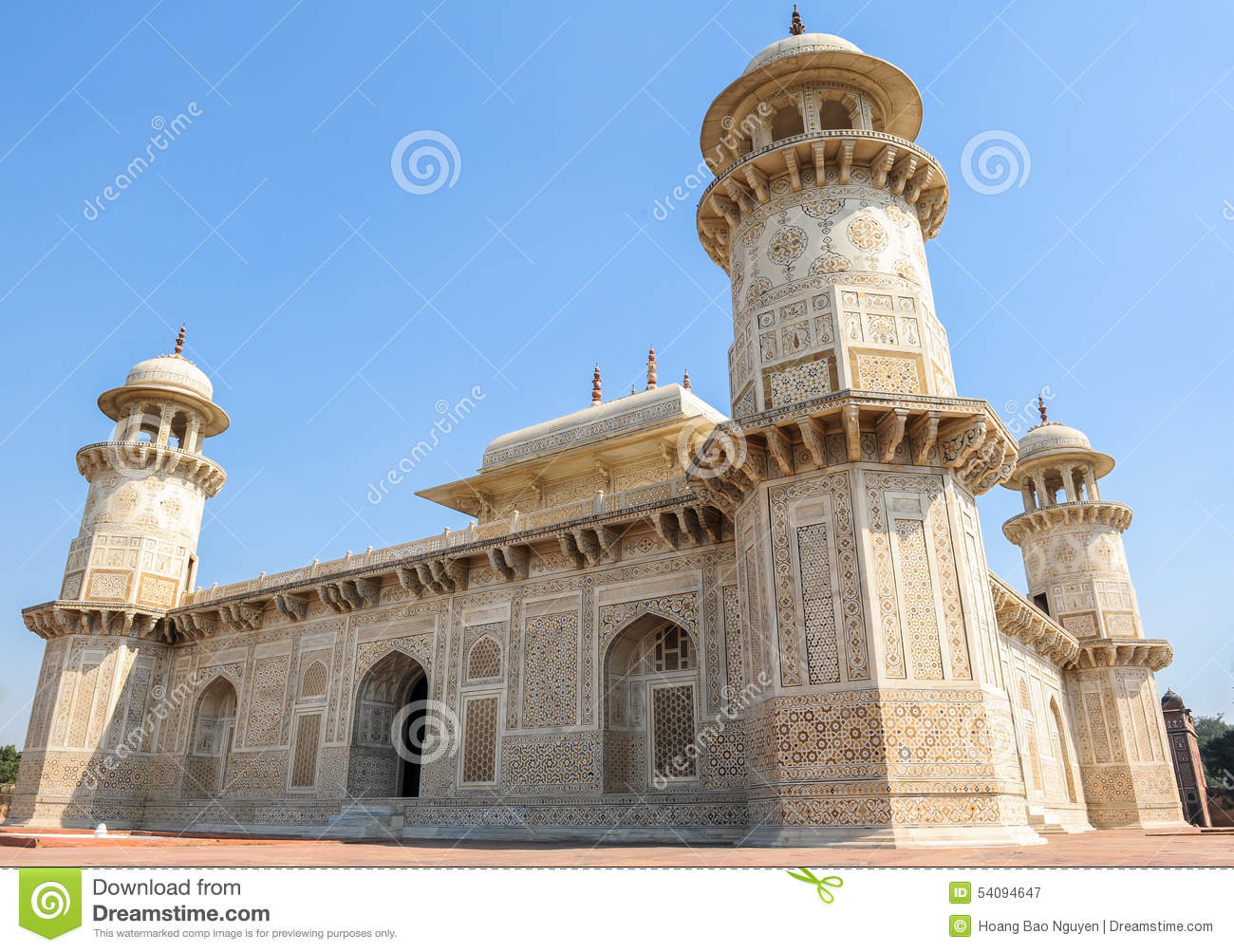 mughal architecture of agra city india stock image image of
