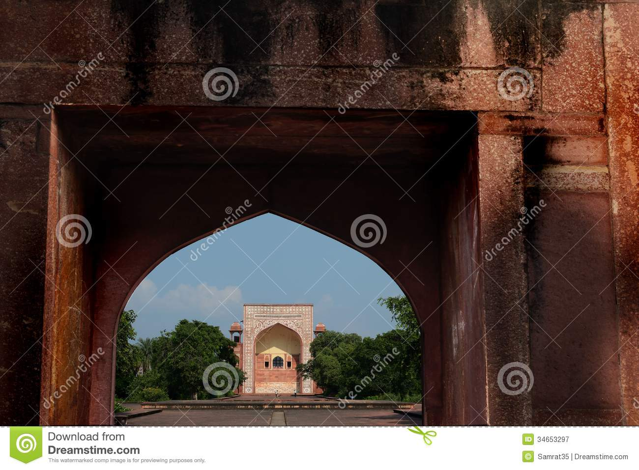mughal architecture editorial photography image of facade 34653297