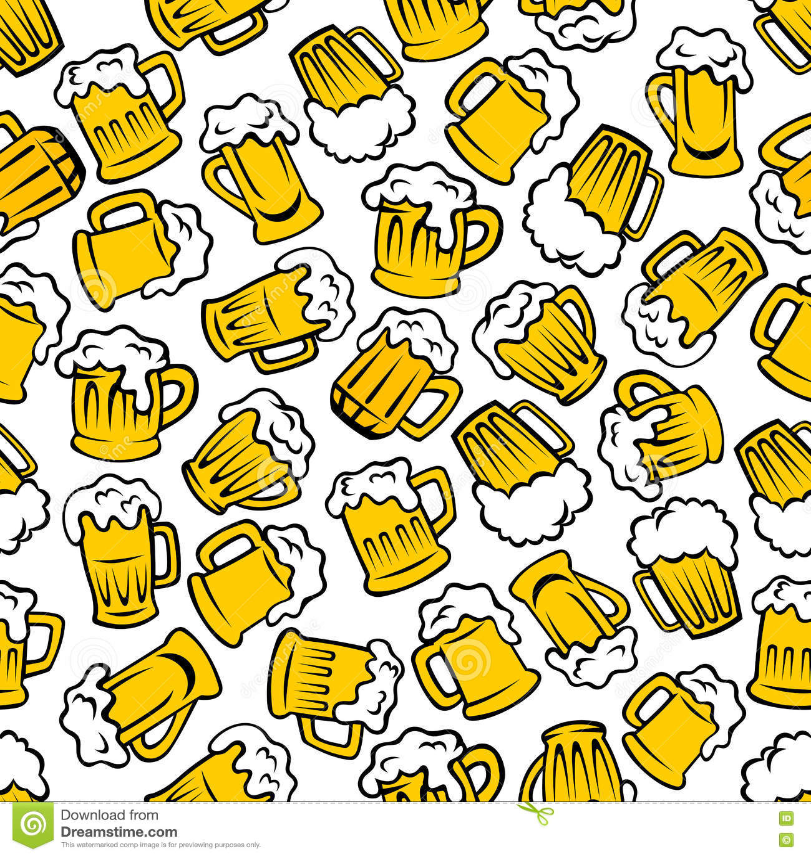 100 Cartoon Beer No Background M Restaurant