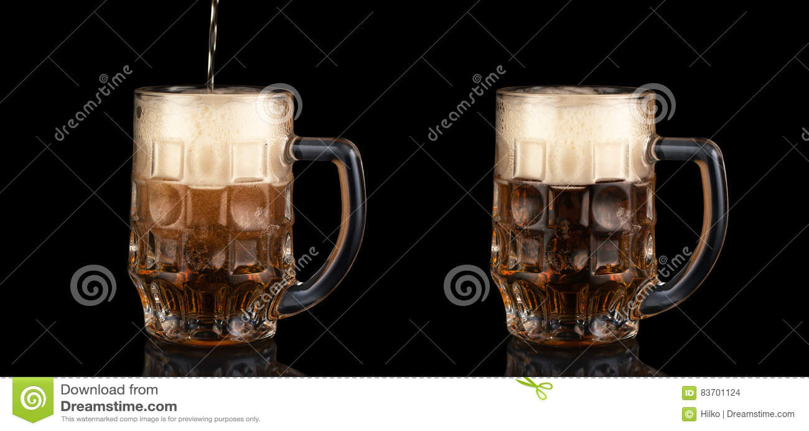 Mugs Of Beer Stock Photo