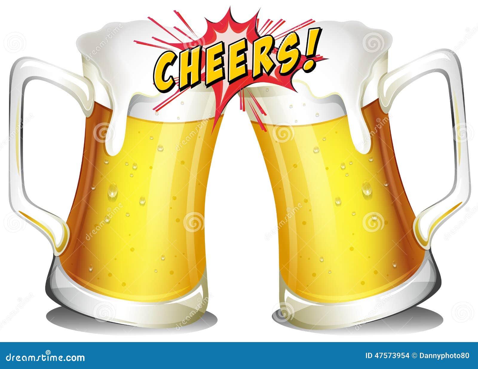 Mugs Of Beers Stock Vector. Illustration Of Mugs, Hard