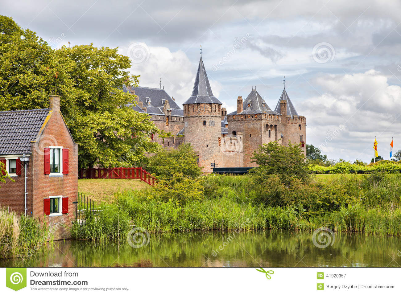 Muiderslot Castle Muiden Netherlands Stock Image Image Of - Where is the netherlands located