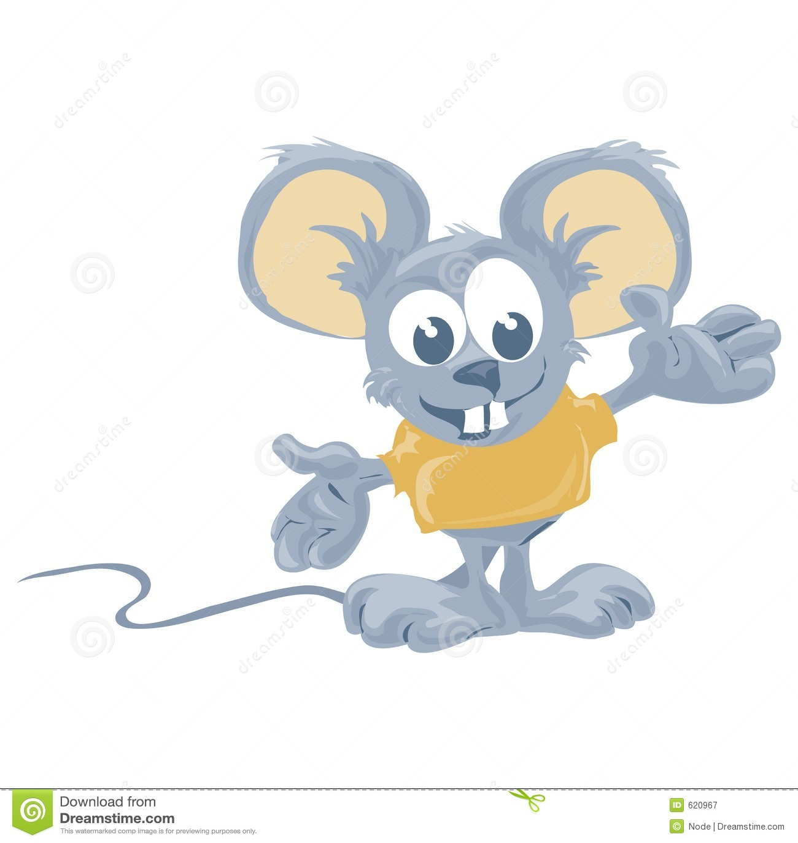Muis met het knippen van weg