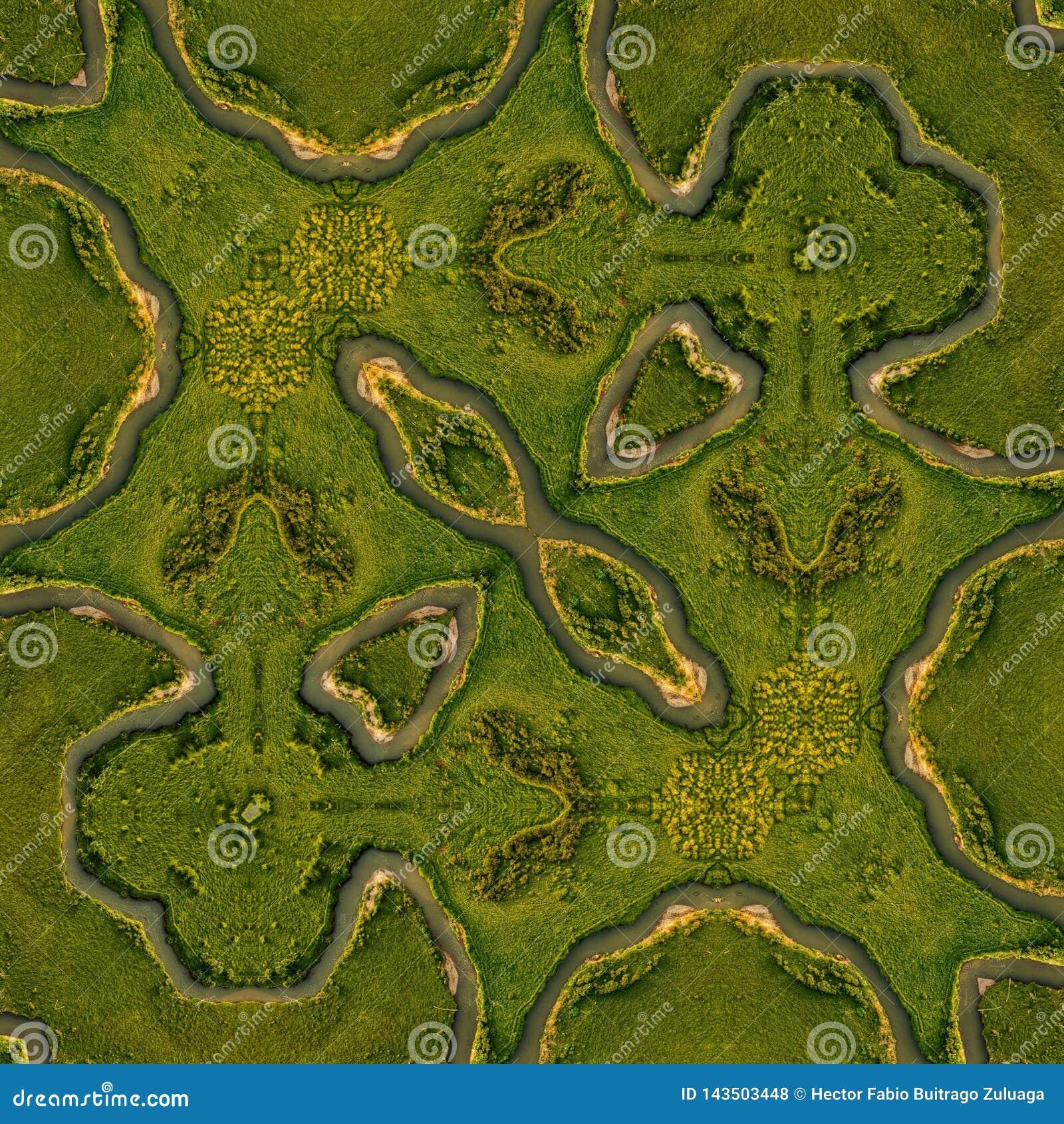 Muitas curvas neste rio Colômbia são originais