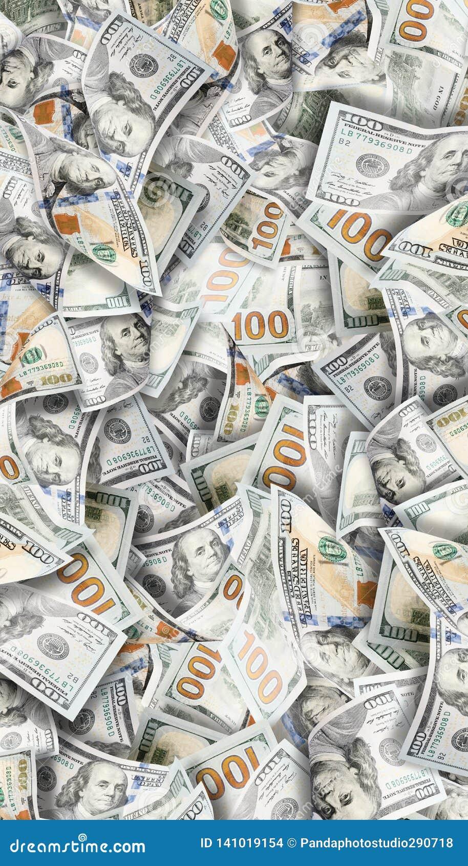 Muitos dólares Imagem altamente detalhada do dinheiro americano