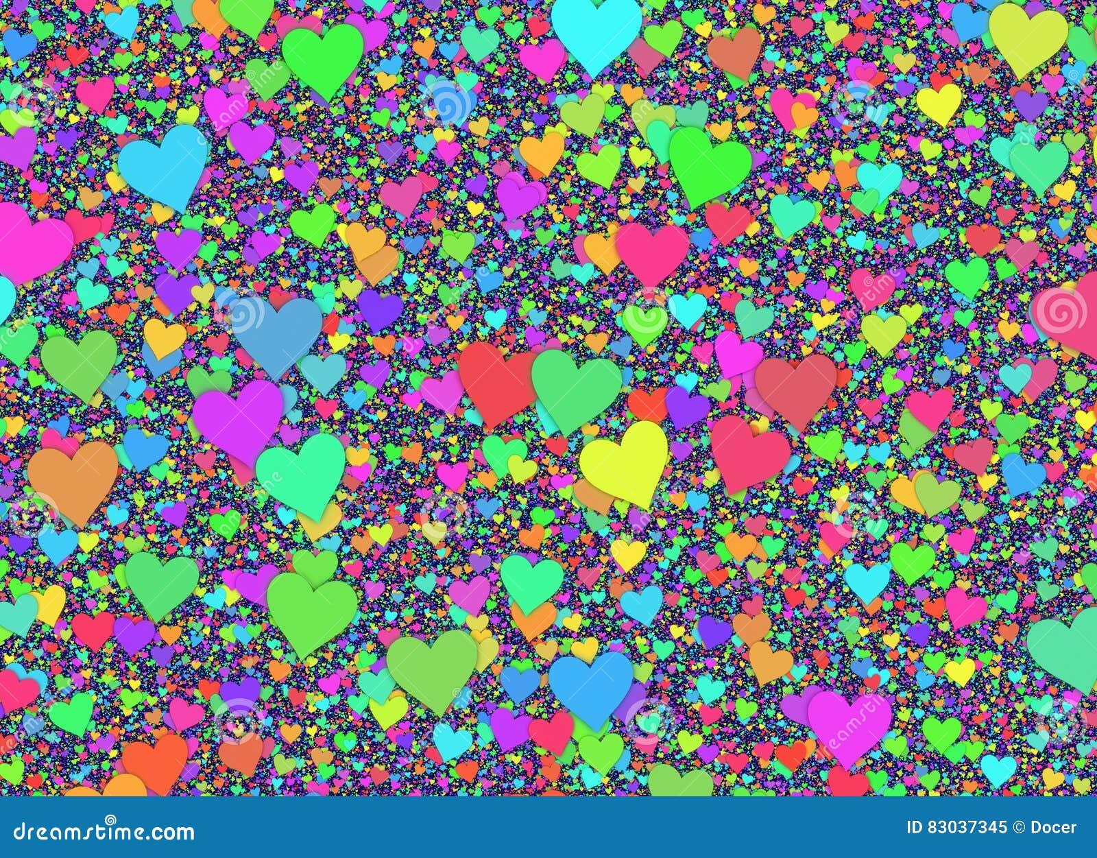 Muitos fundos coloridos pequenos dos corações
