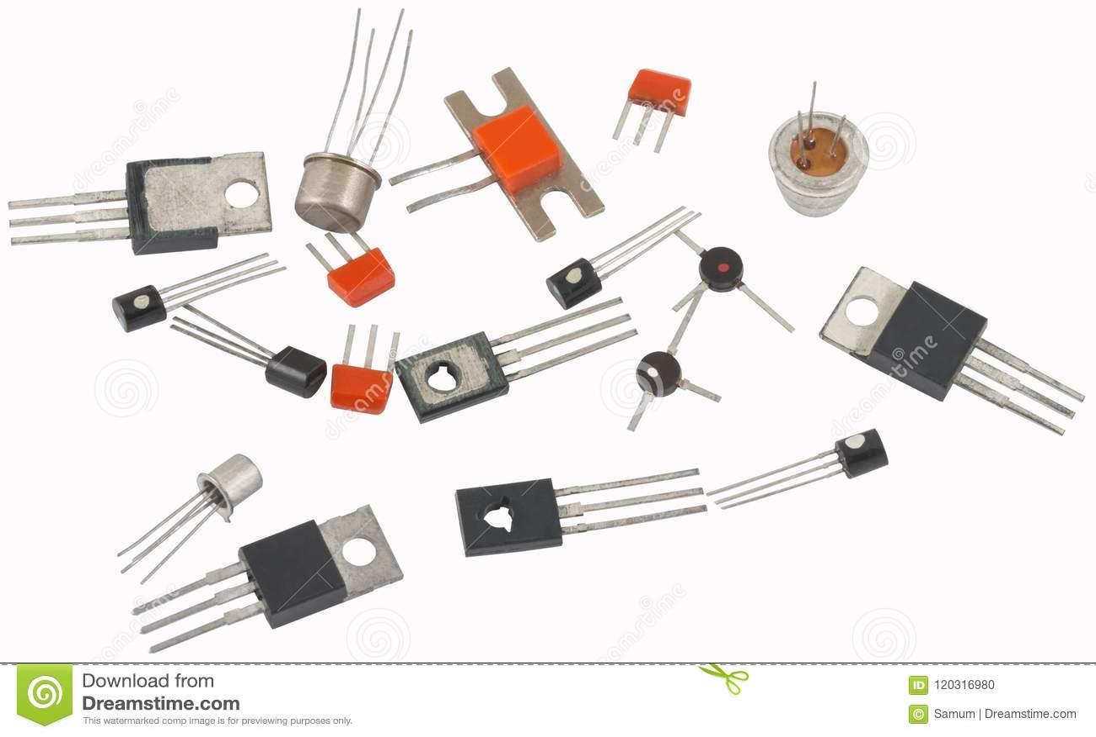 Muitos transistor novos