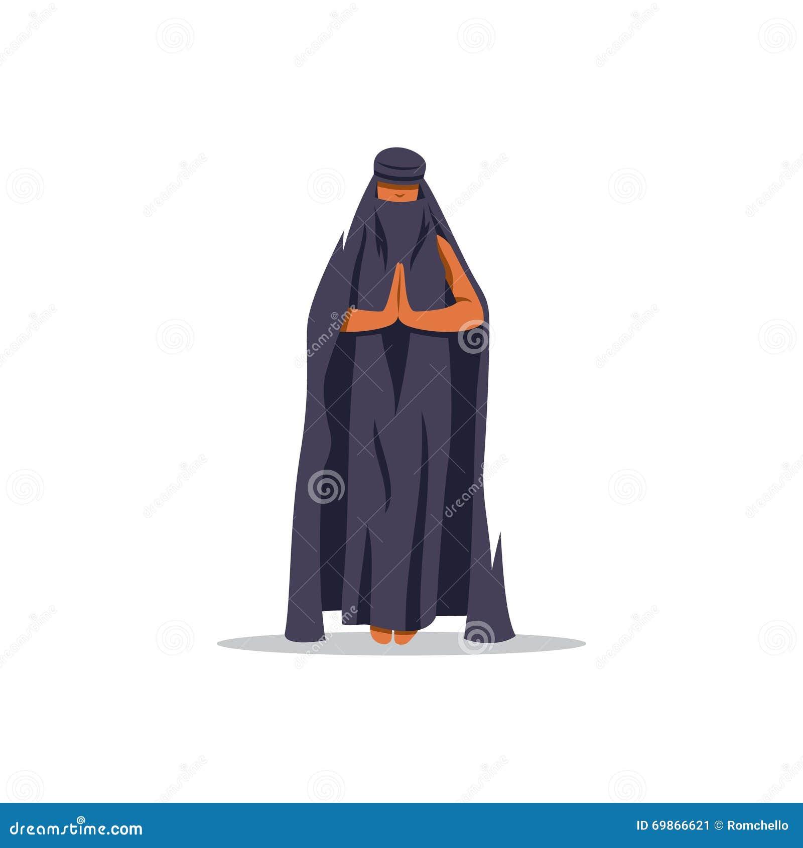 297b41c3b Mujer árabe Joven En Vestido Tradicional Ilustración Del Vector ...