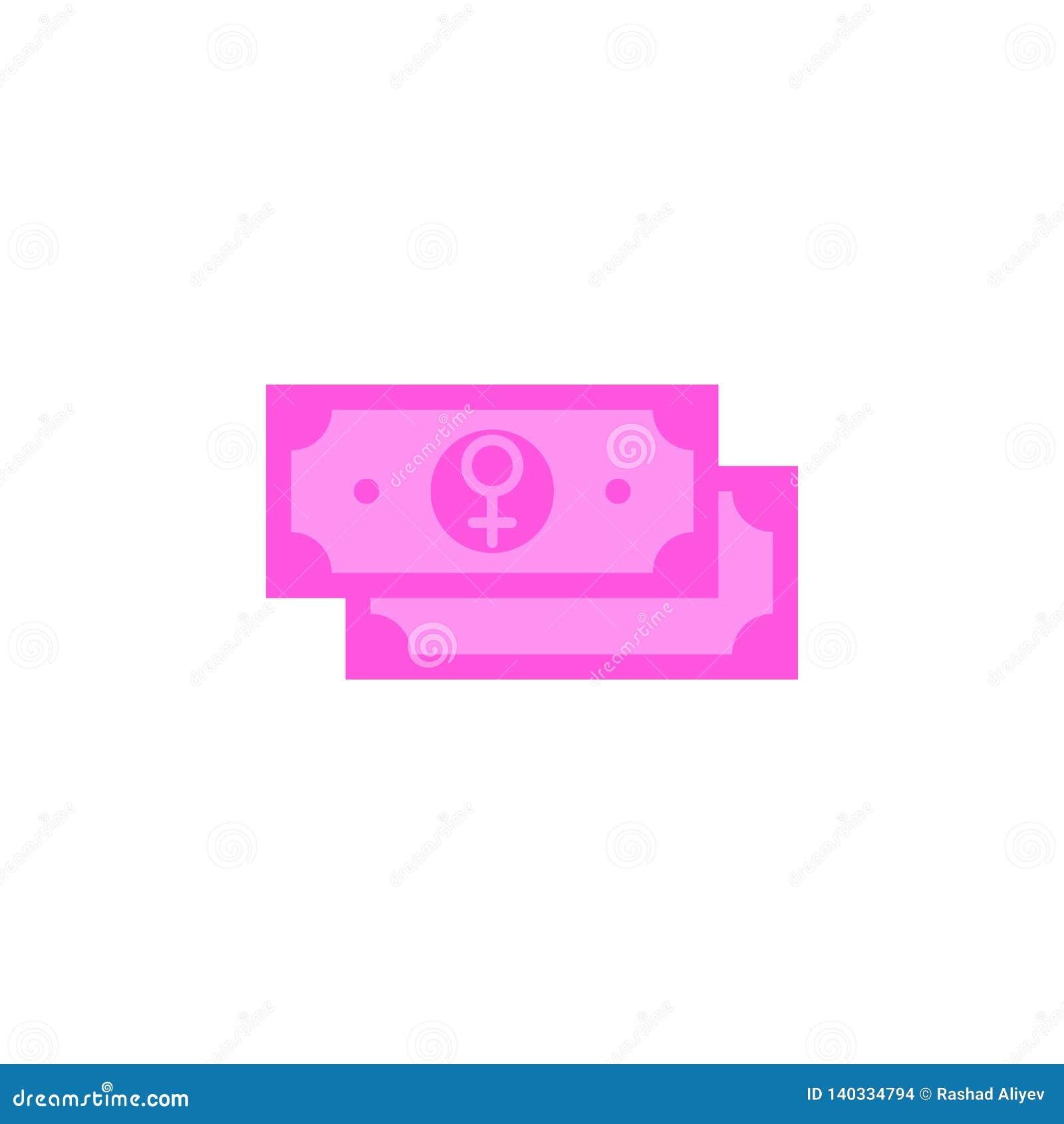 Mujer  'día de s, icono de la cuenta Elemento de la mujer del color  'del icono del día de s Icono superior del diseño gráfico